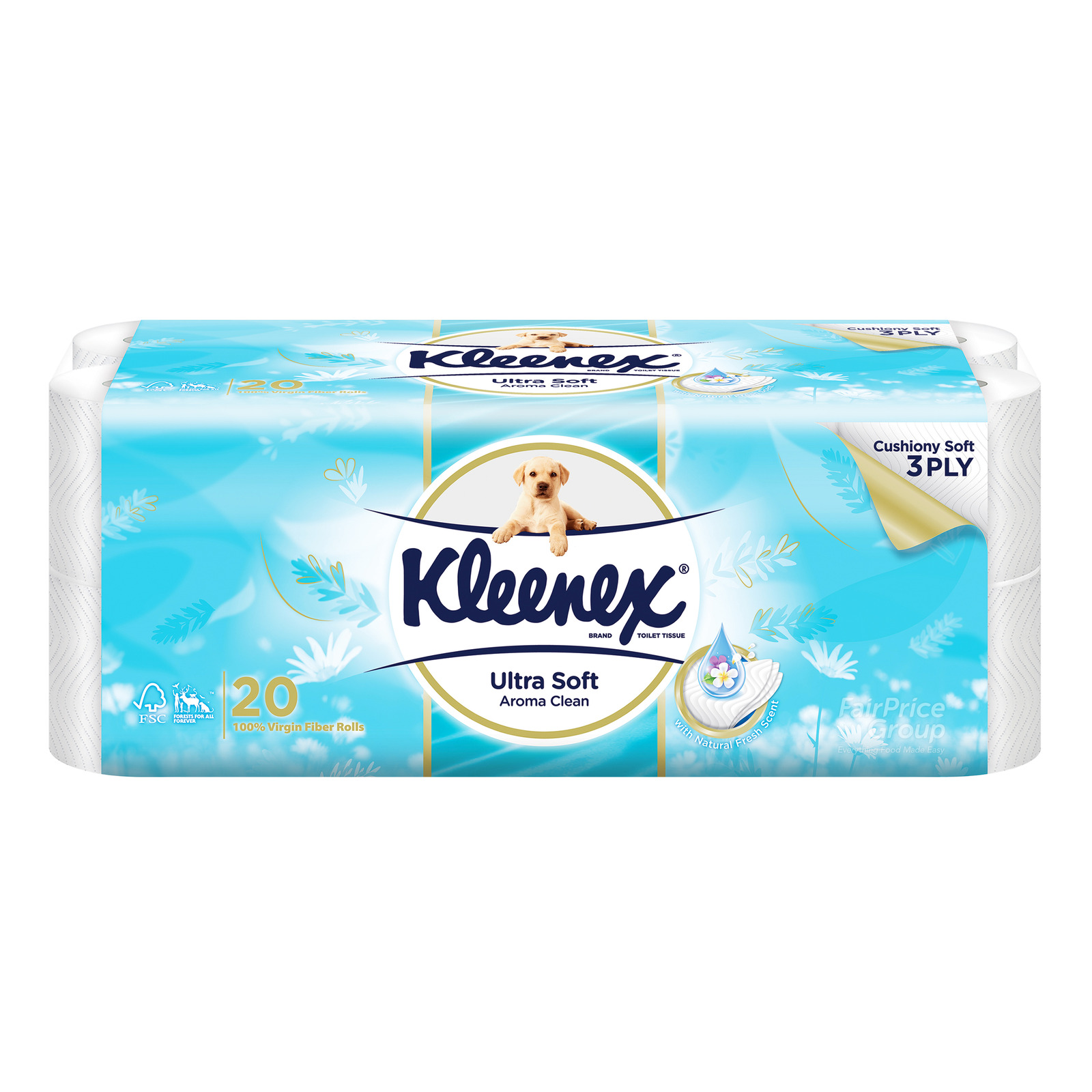 KLEENEX ultra soft 3ply toilet tissue paper aroma clean 20s