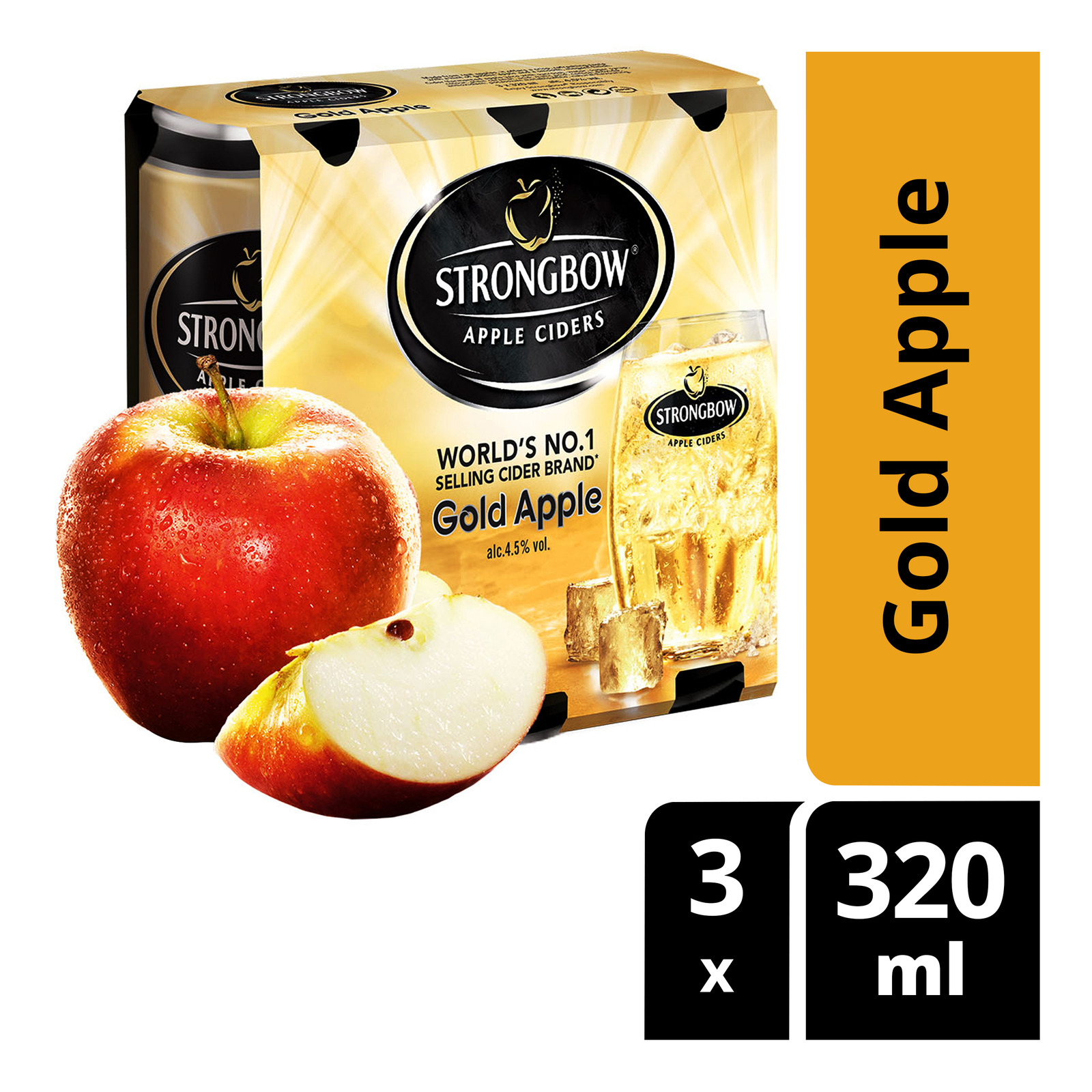 Strongbow Apple Can Cider - Gold Apple