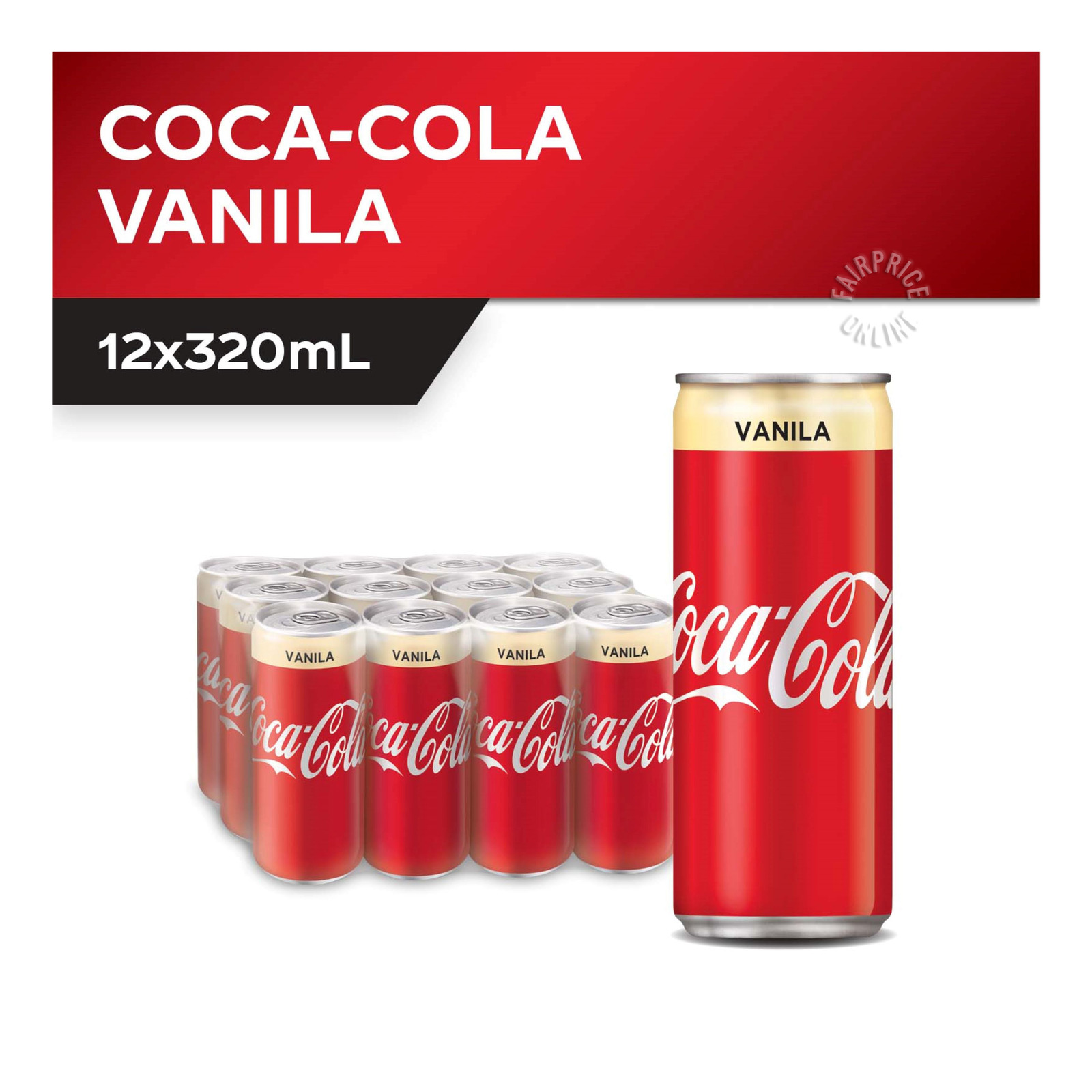 COCA-COLA Coke Vanilla 12sX320ml