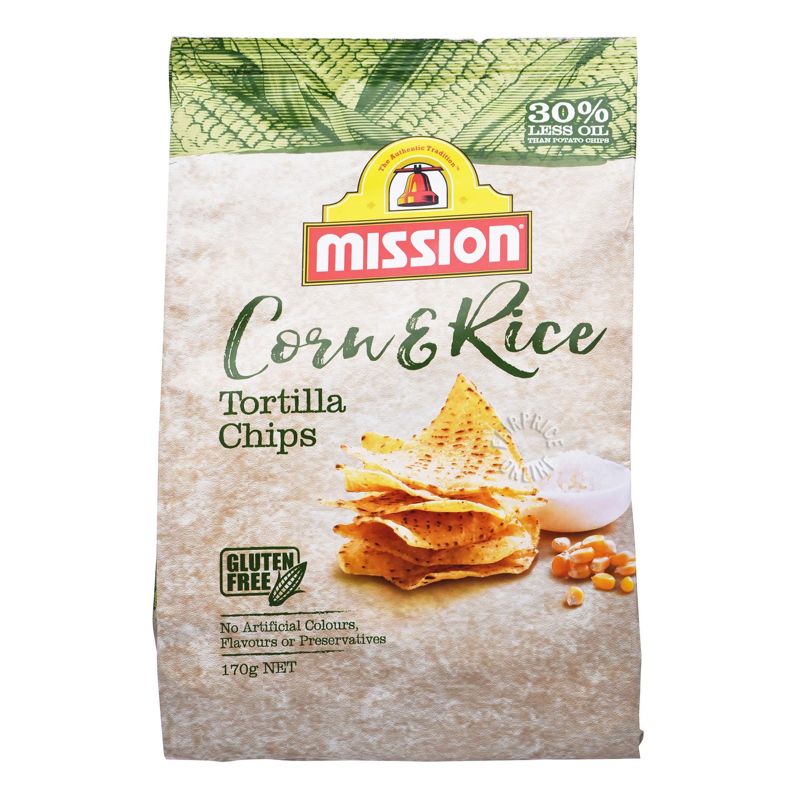 Mission Tortilla Chips - Corn & Rice