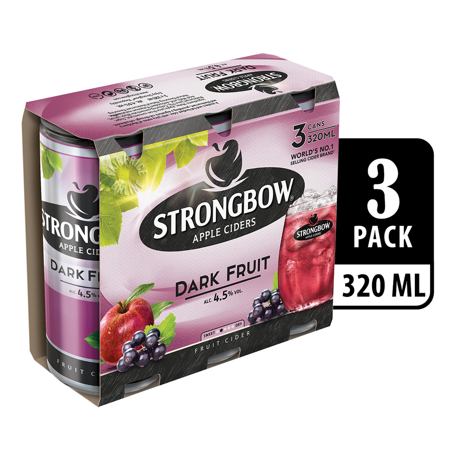 Strongbow Apple Can Cider - Dark Fruit