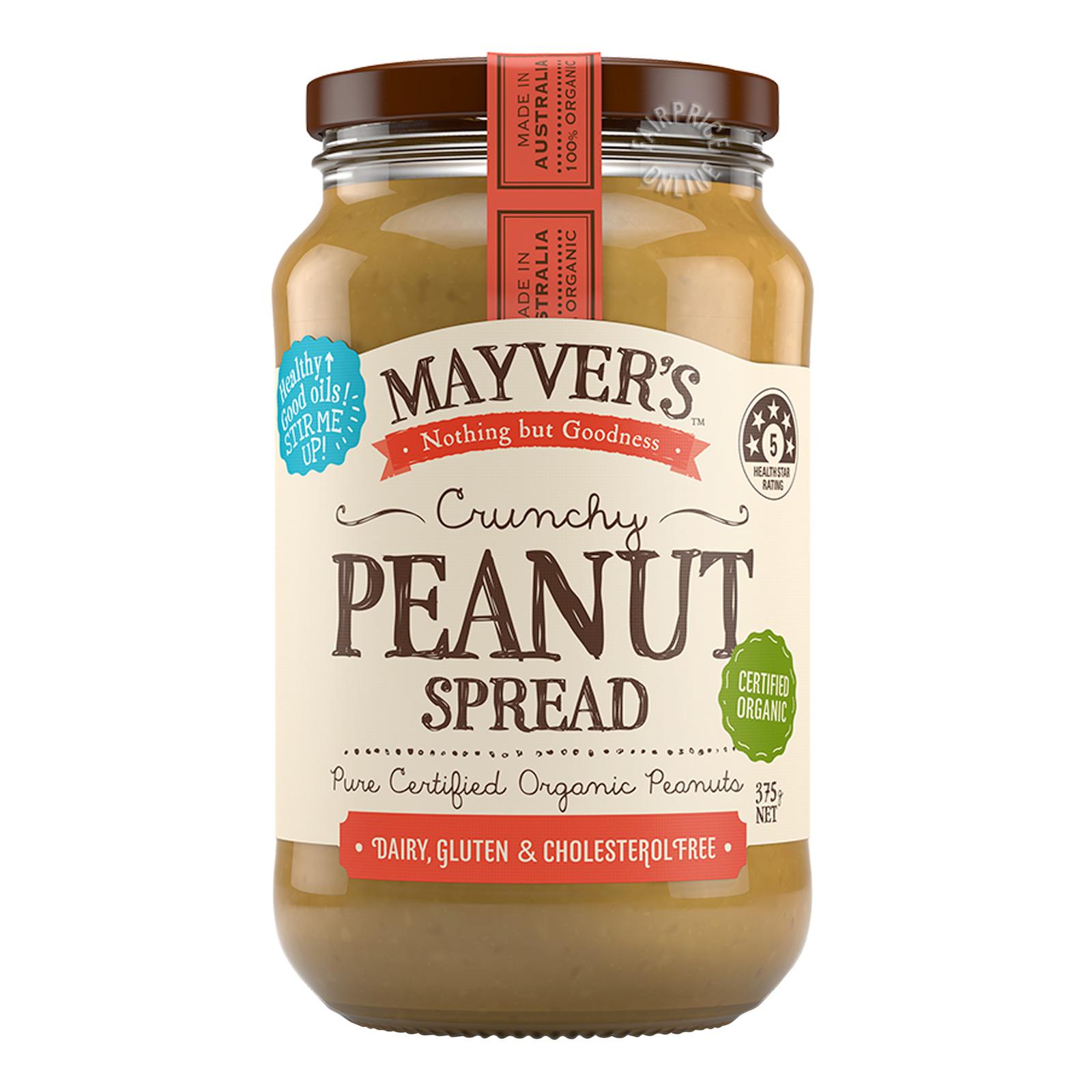 Mayver's Organic Peanut Spread - Crunchy