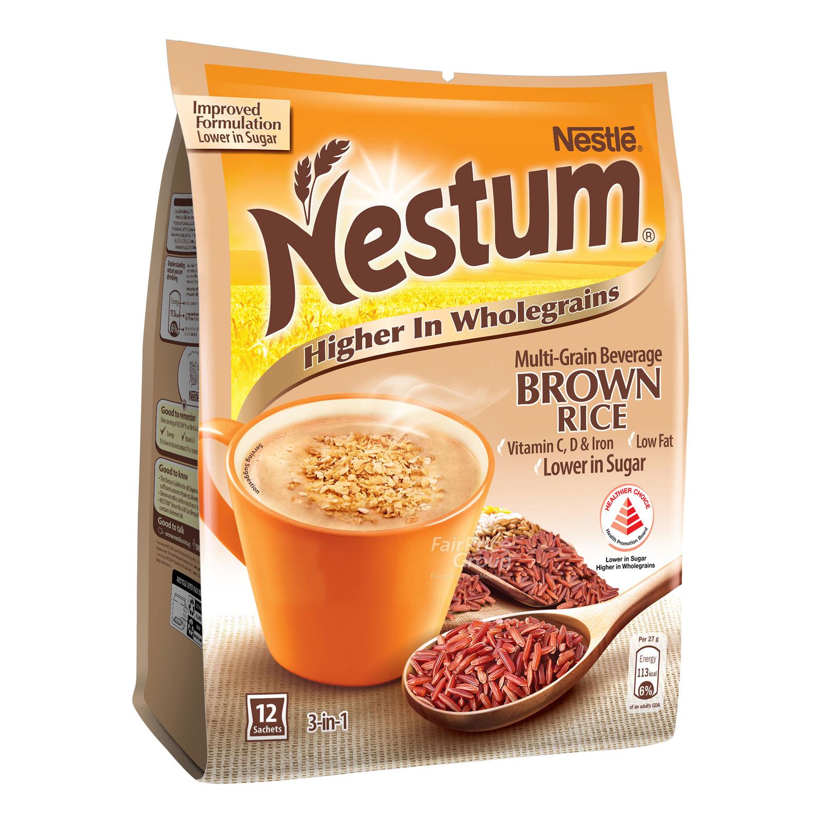 Nestle Nestum 3 in 1 Instant Cereal Milk Drink - Brown Rice