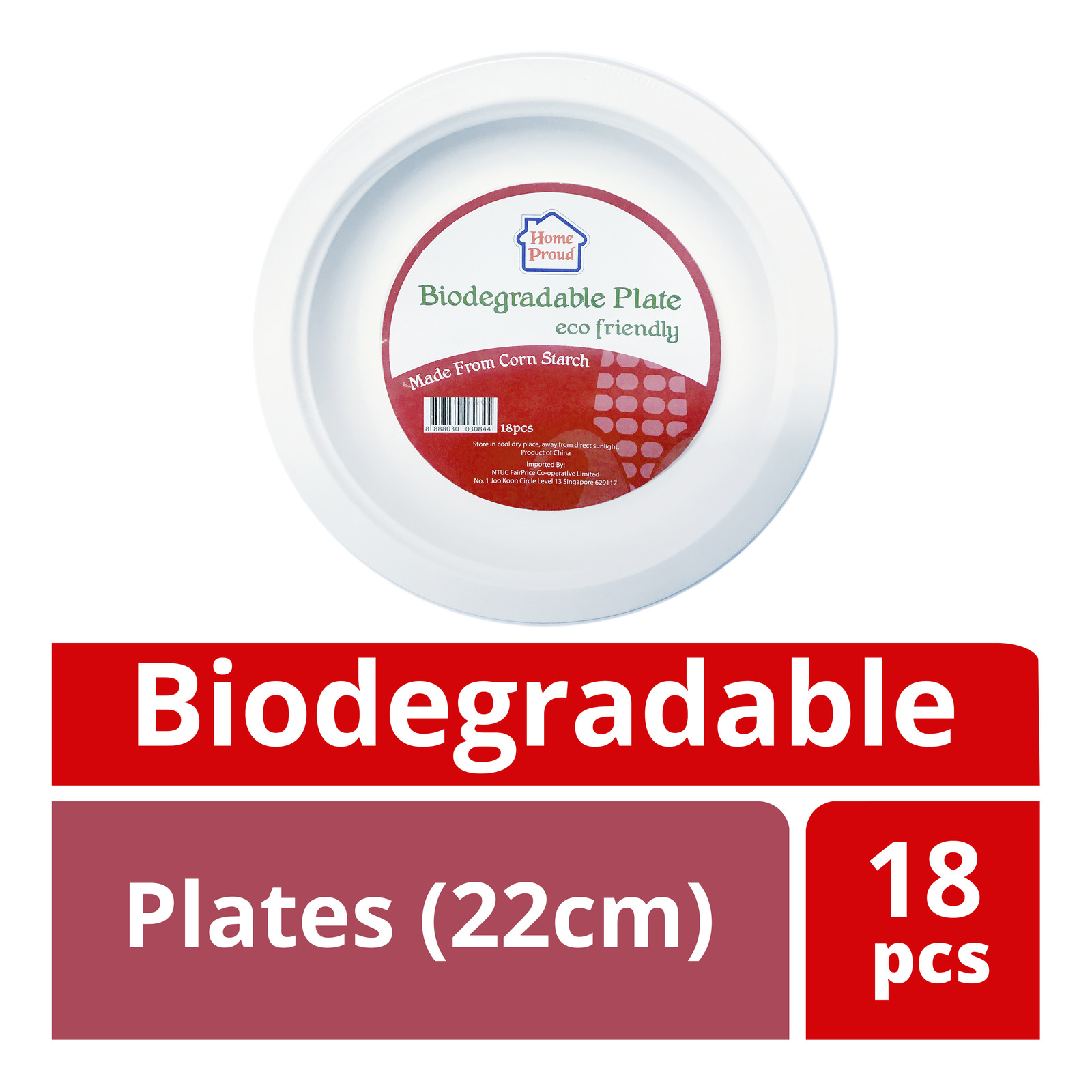 HomeProud Biodegradable Plates (22cm)