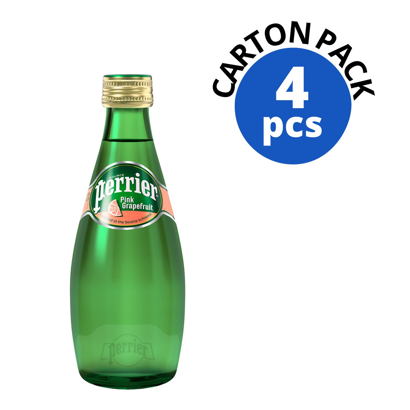 Perrier Sparkling Mineral Bottle Water - Pink Grapefruit