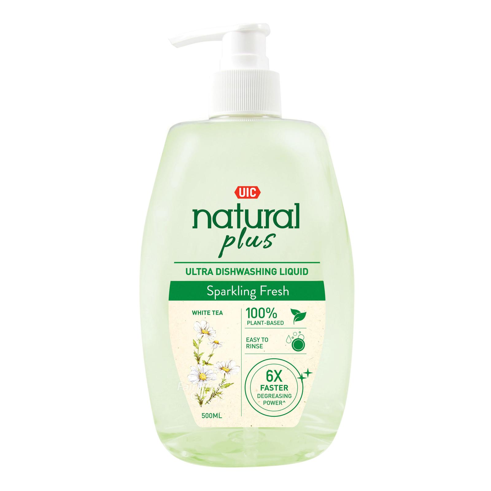 UIC Natural Plus Ultra Dishwashing Liquid - Sparkling Fresh