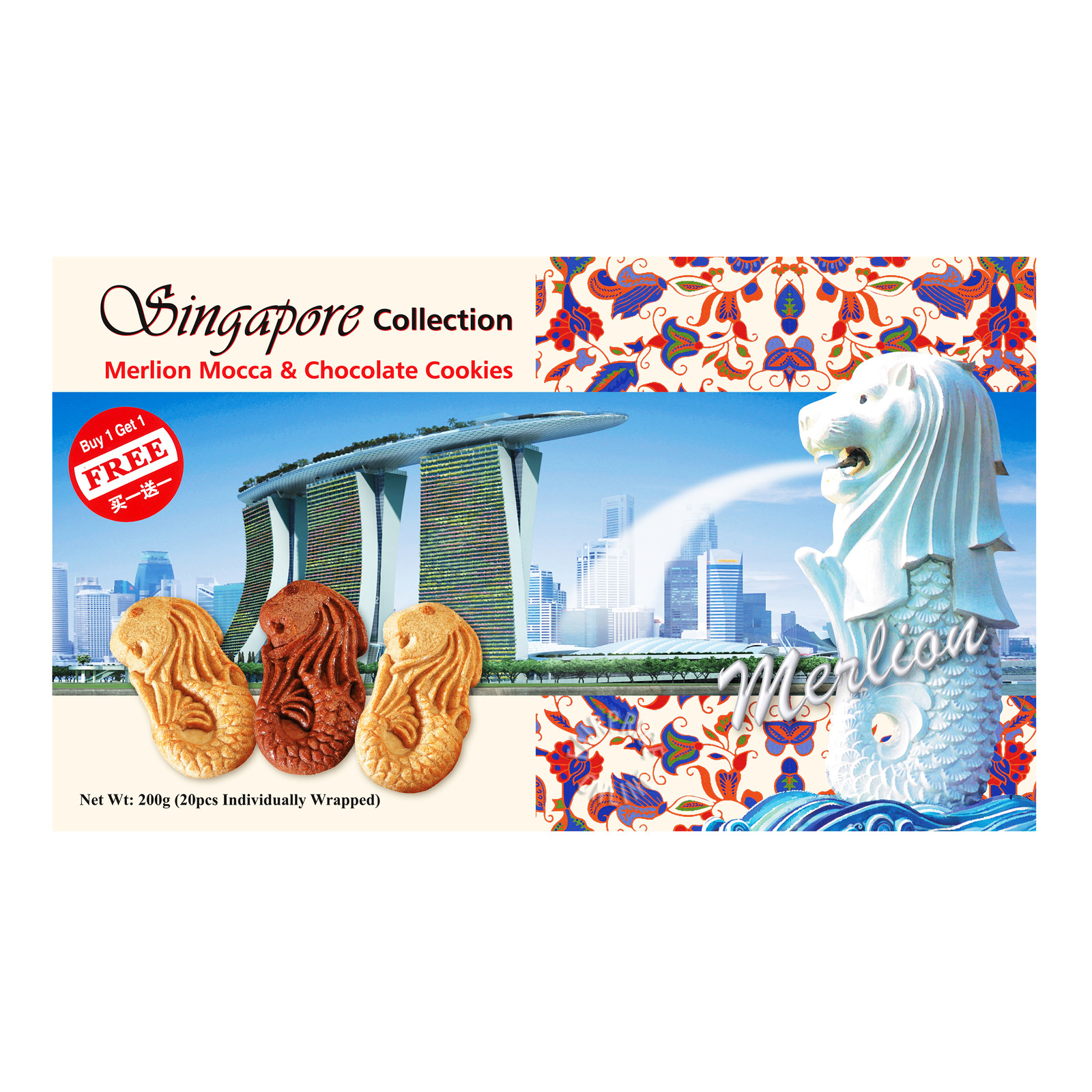 Manly Singapore Merlion Cookies - Mocca & Chocolate