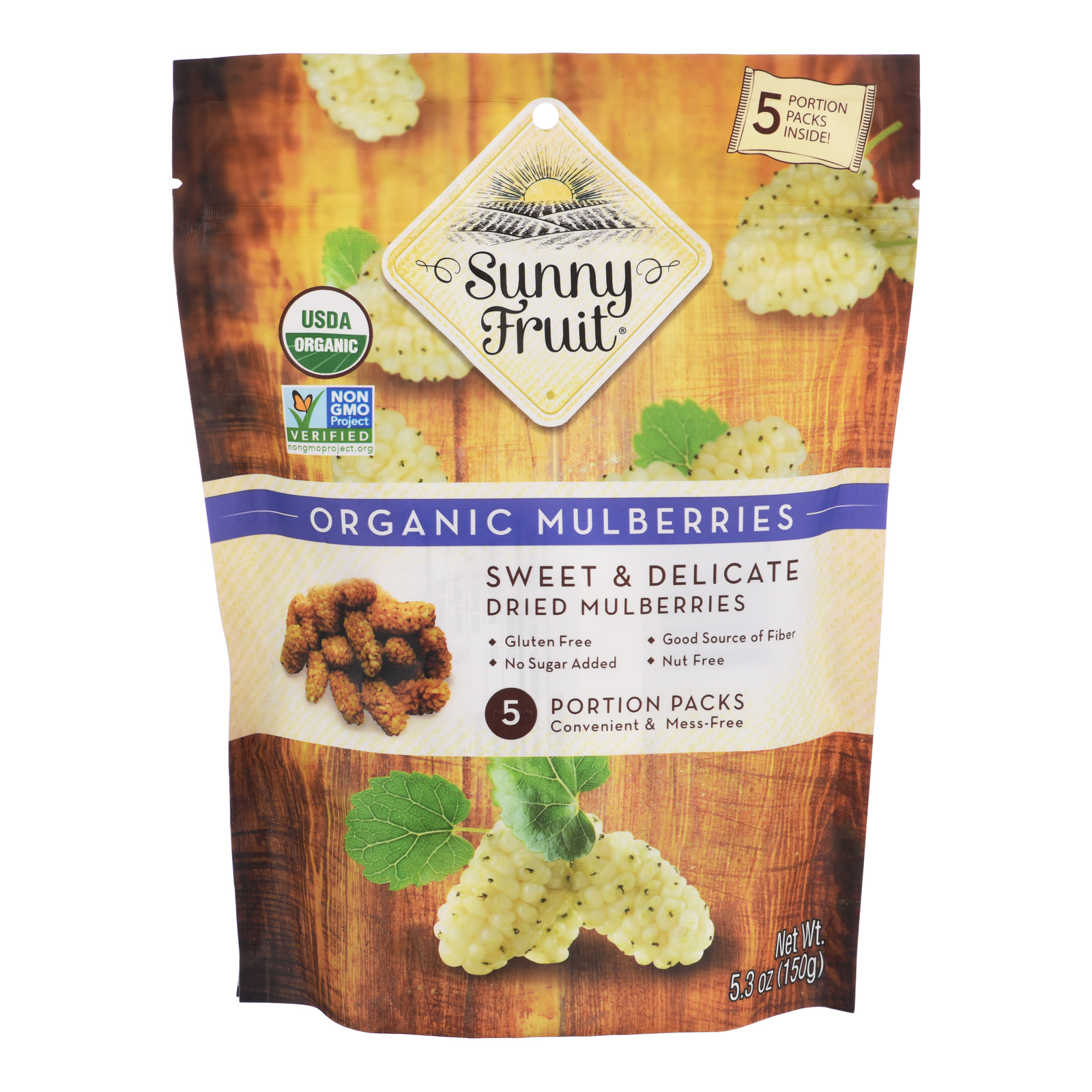 Sunny Fruit Organic Dried Fruit - Mulberries