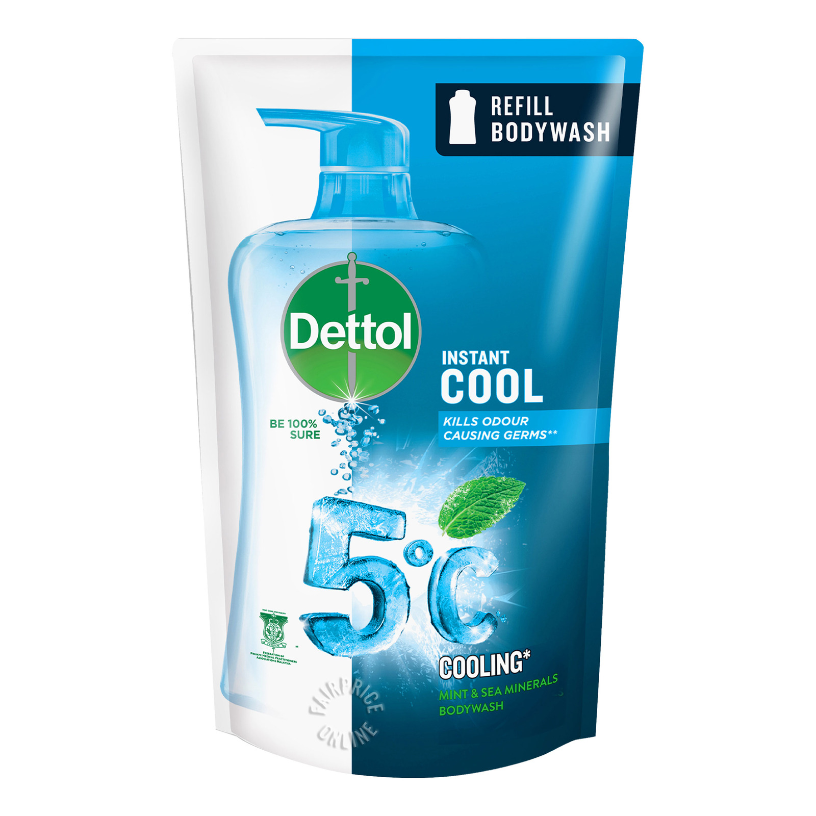 Dettol Anti-Baterial pH-Balanced Body Wash Refill - Cool