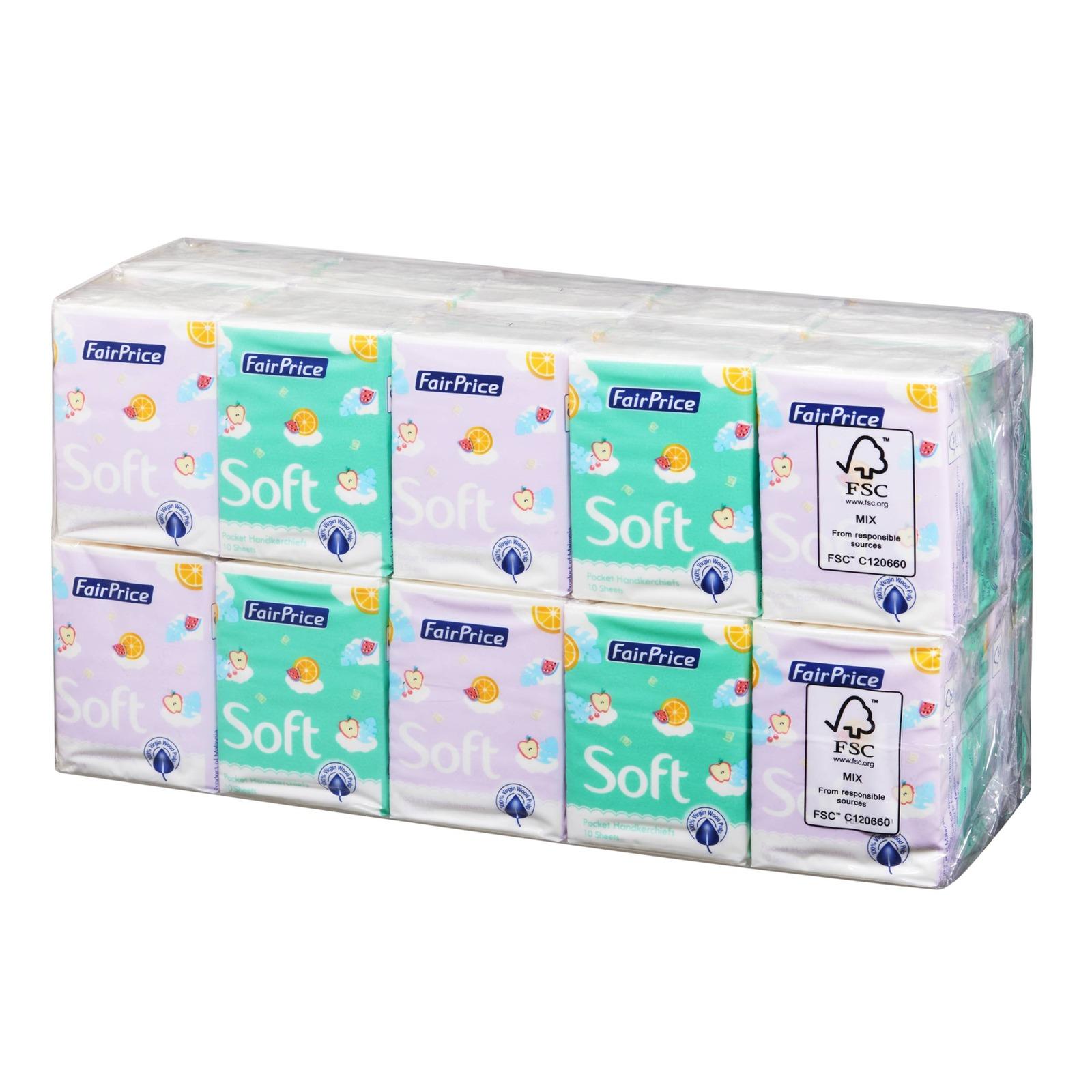 FairPrice Soft Pocket Handkerchiefs - Fruity