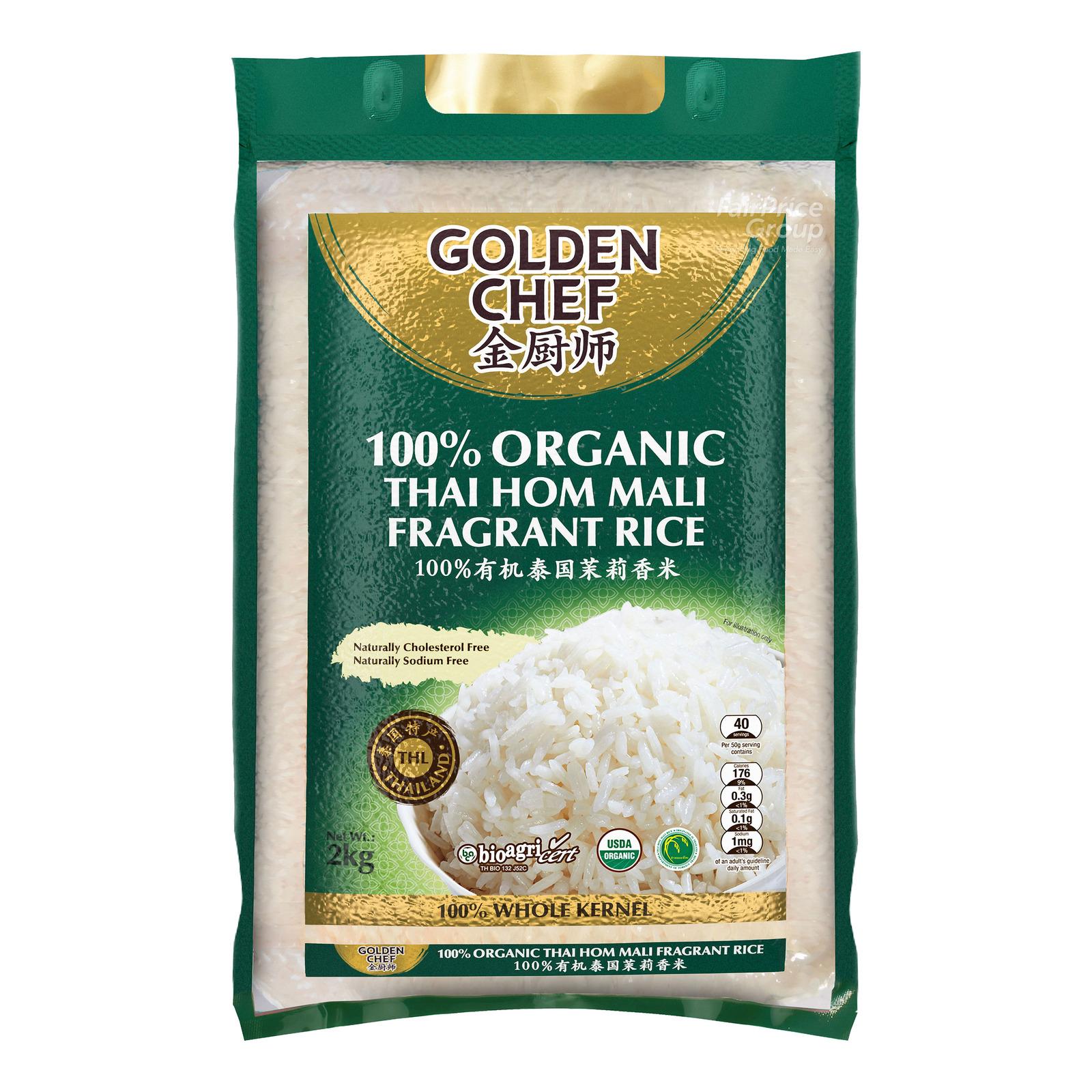 Golden Chef 100% Organic Thai Hom Mail Fragrant Rice