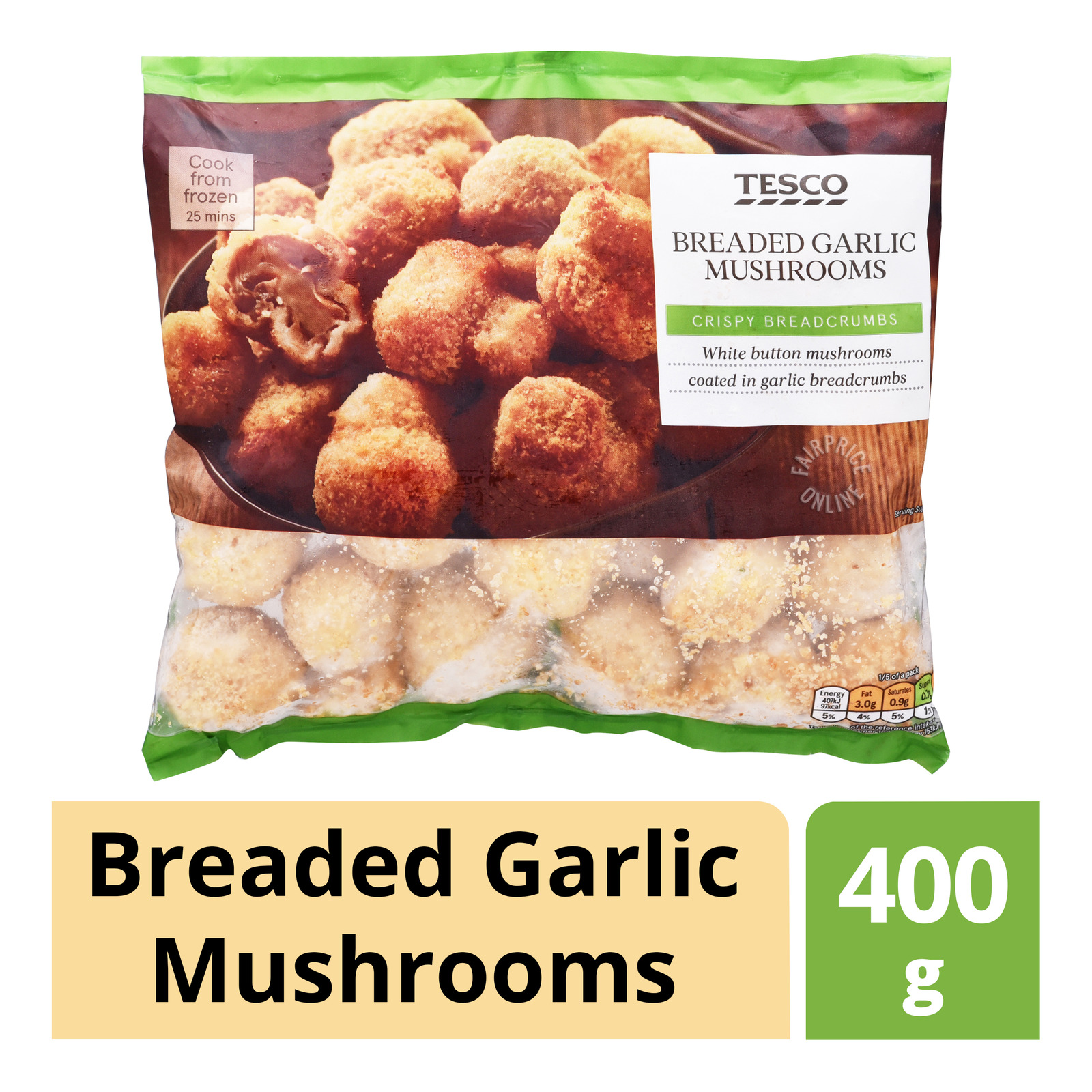 Tesco Frozen Breaded Garlic Mushrooms