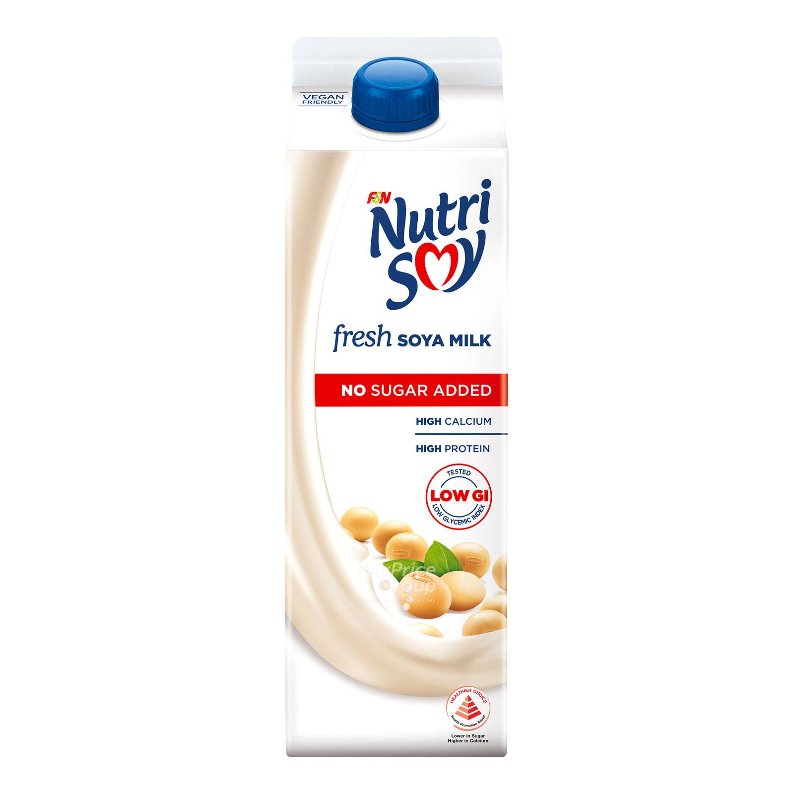 F&N NutriSoy High Calcium Fresh Soya Milk - No Sugar Added