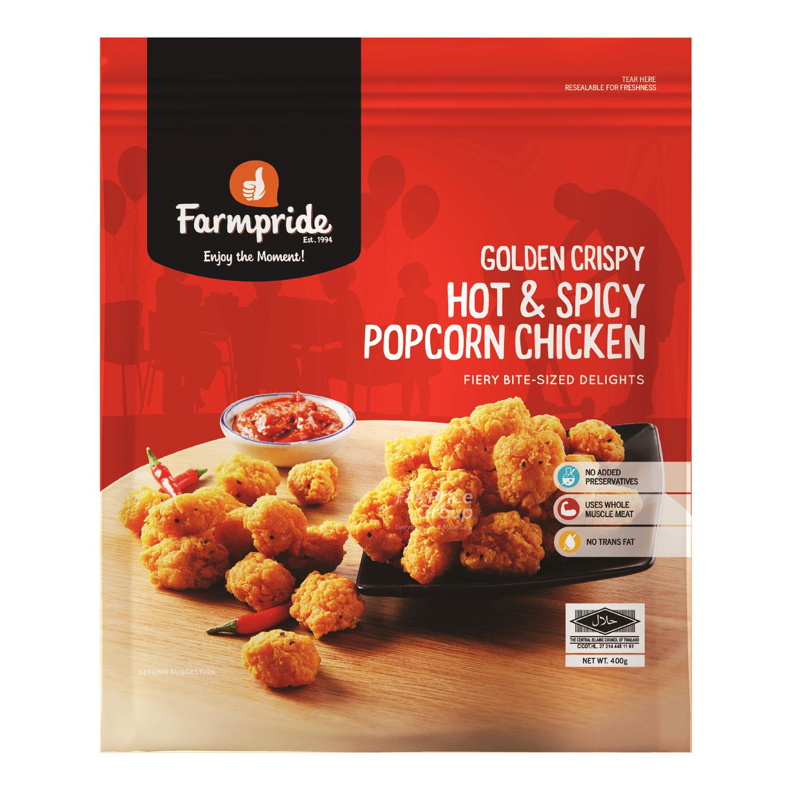 Farmpride Frozen Golden Crispy Popcorn Chicken - Hot & Spicy