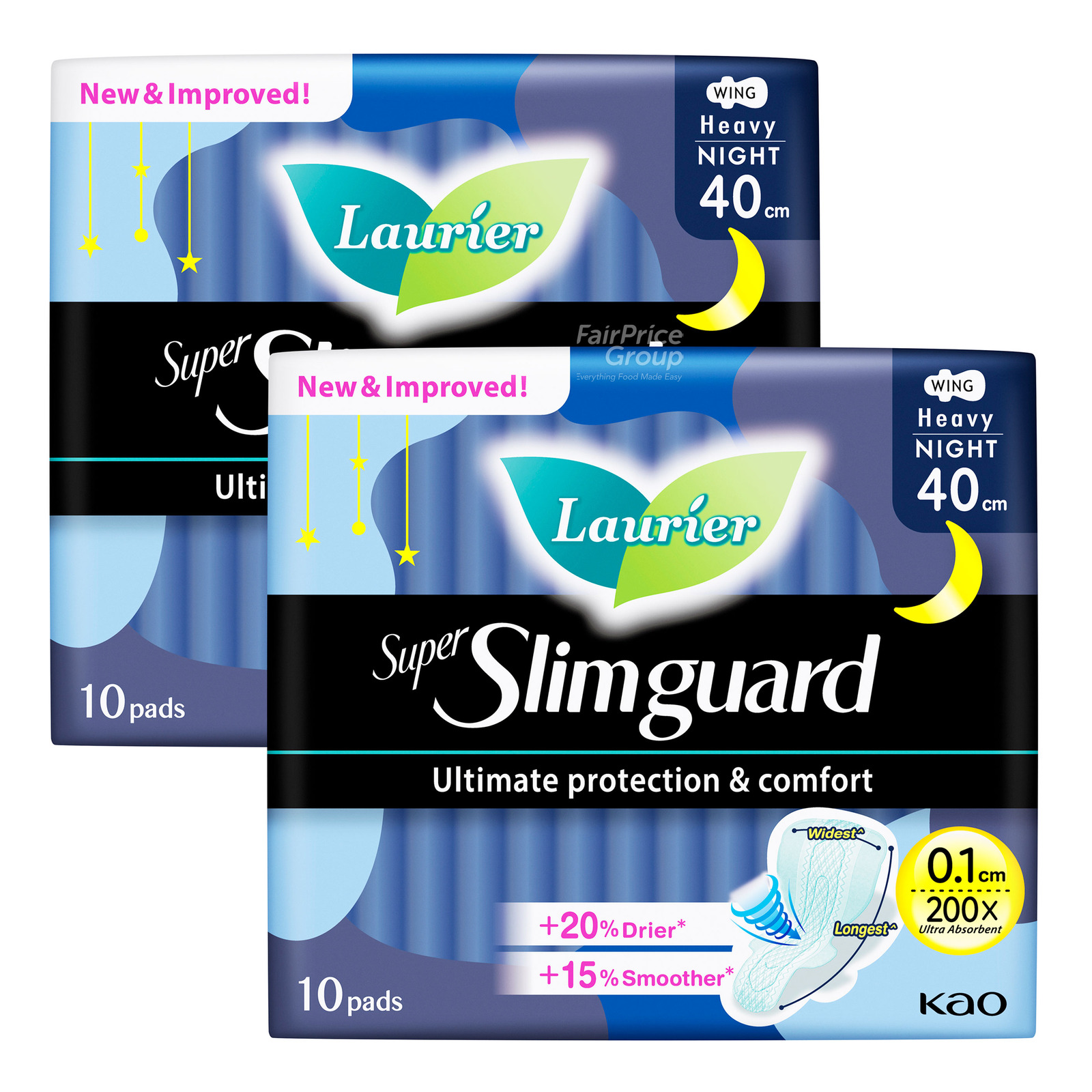 Laurier Super Slimguard Night Wings Pads-Heavy (40cm)