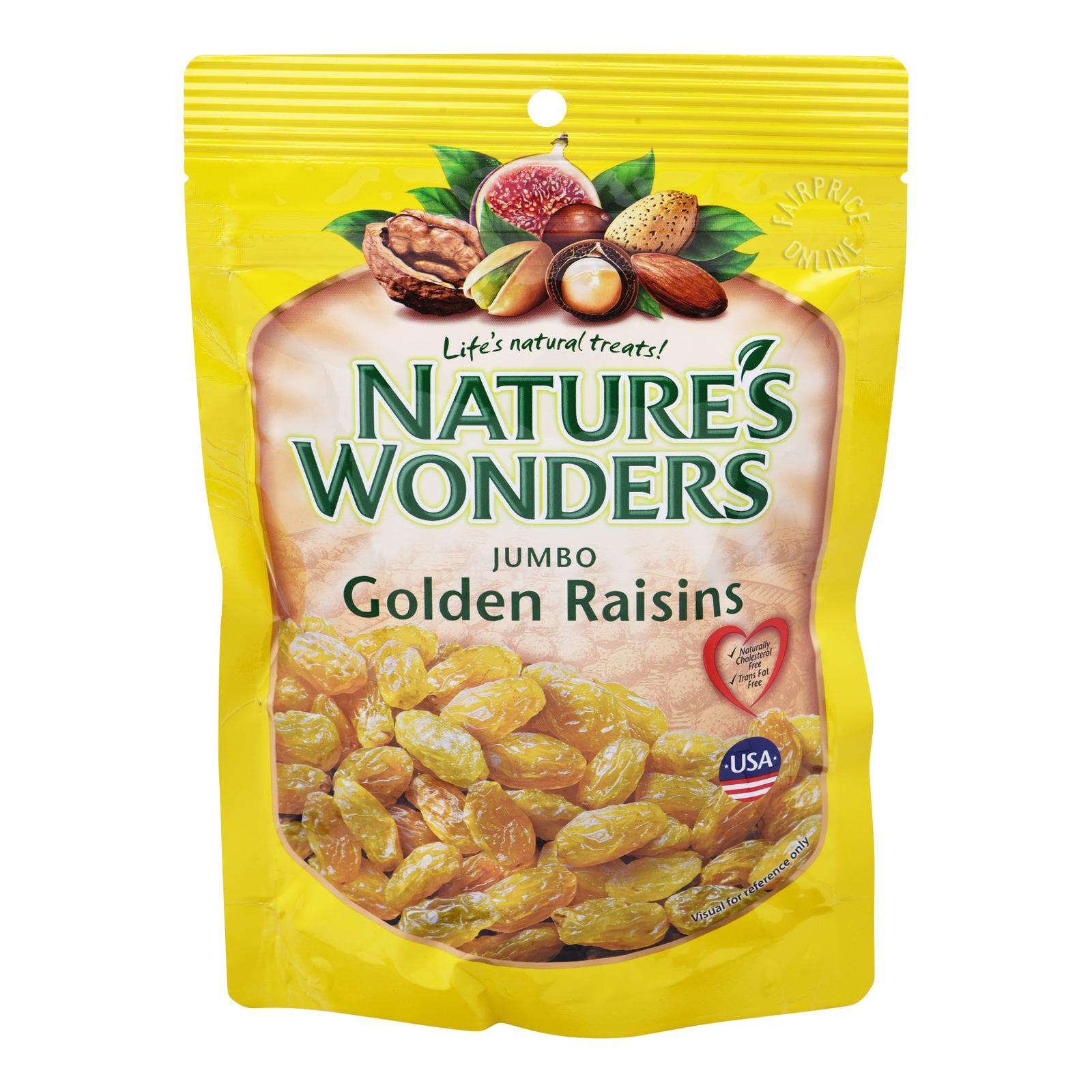Nature's Wonders Golden Raisins - Jumbo