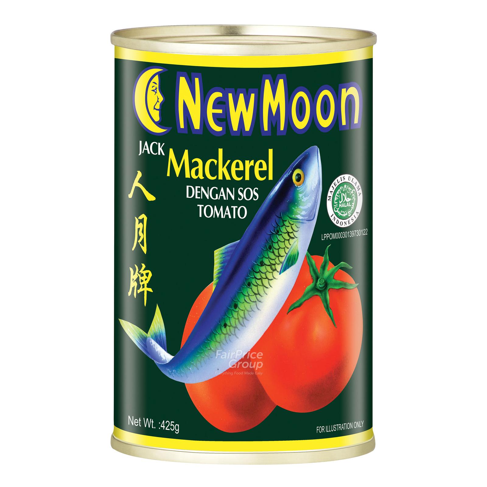NEW MOON New Moon Jack Mackerel In Tomato Sauce 425g