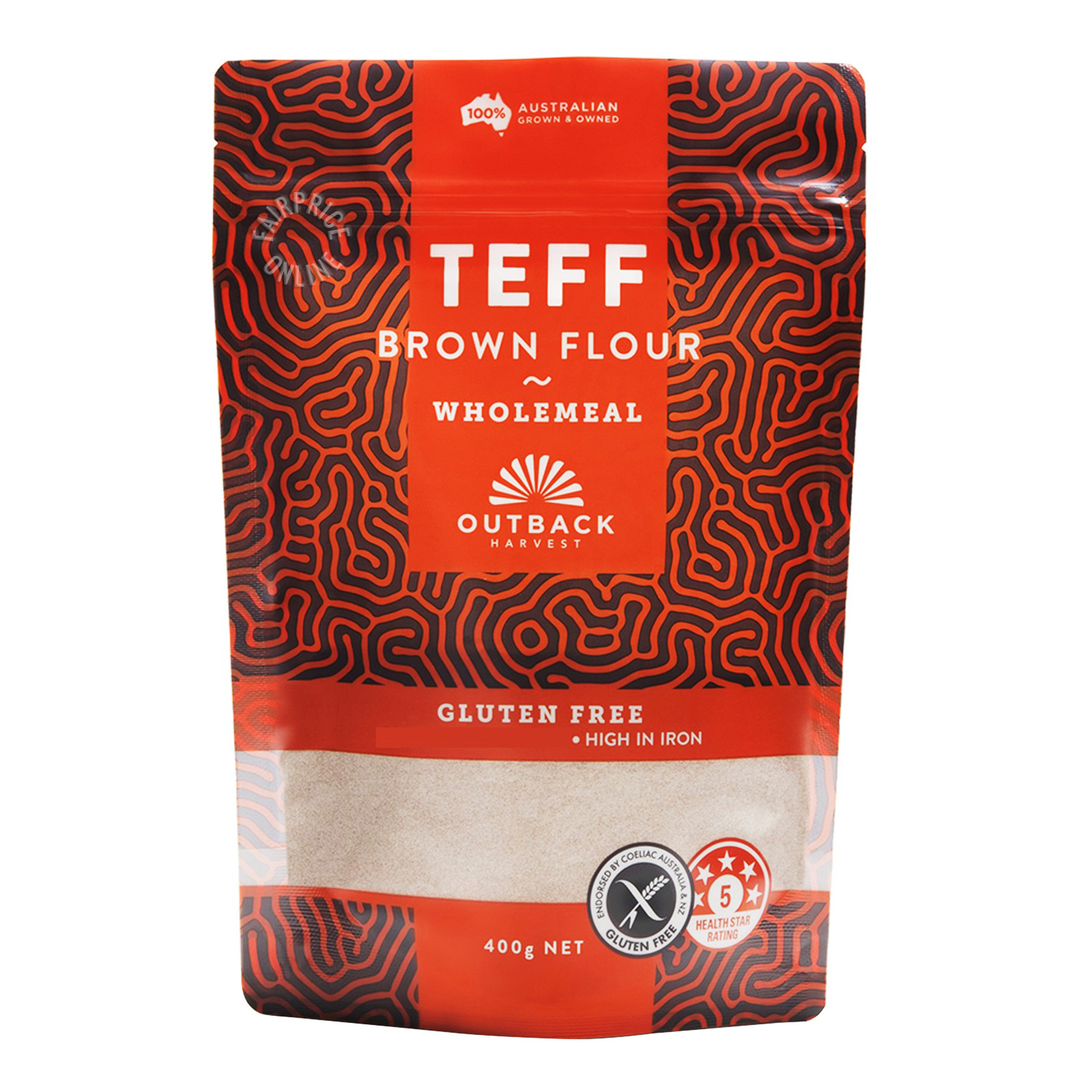 Outback Harvest Teff Wholemeal Flour - Brown