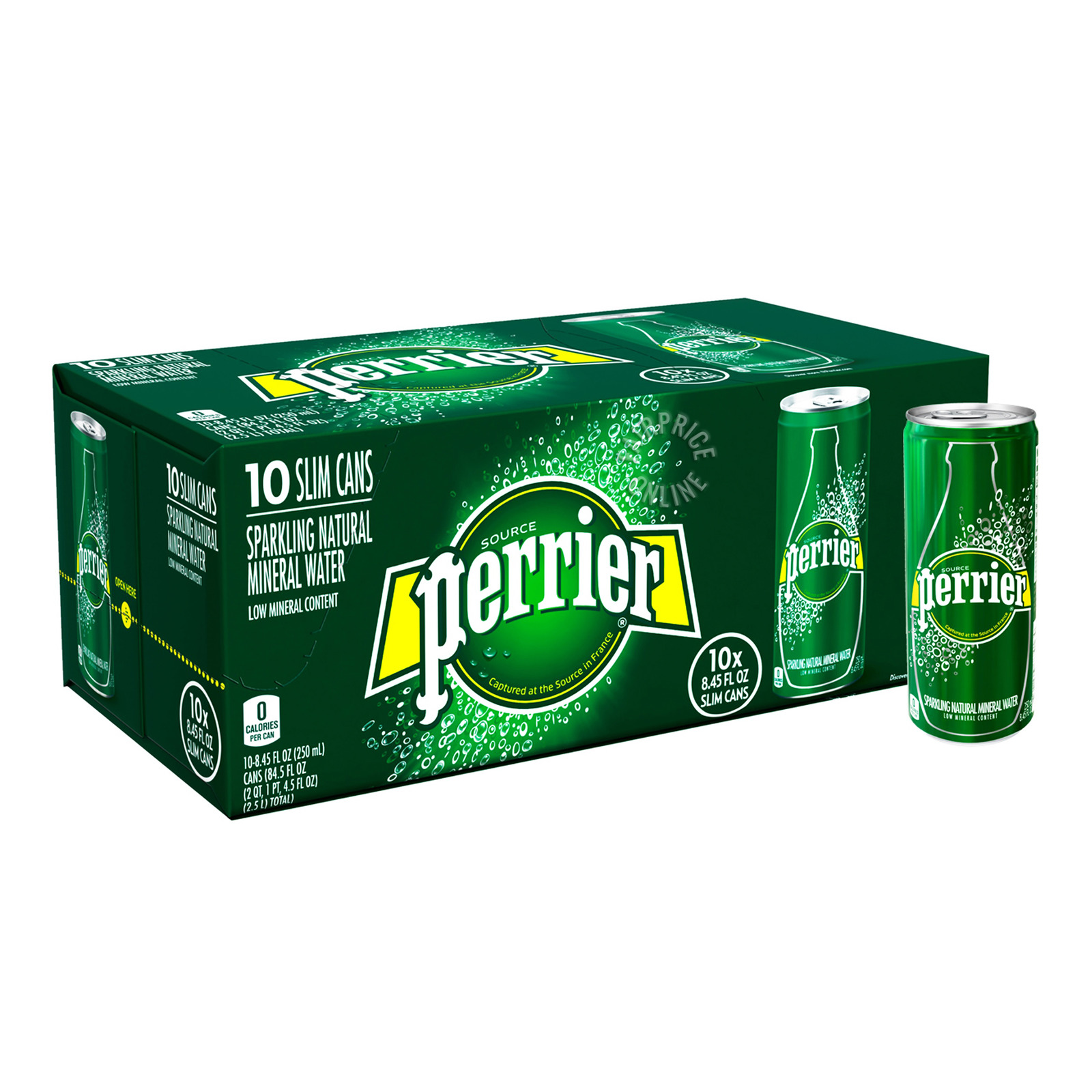 Perrier Lemon Sparkling Natural Mineral Water Fridge Pack