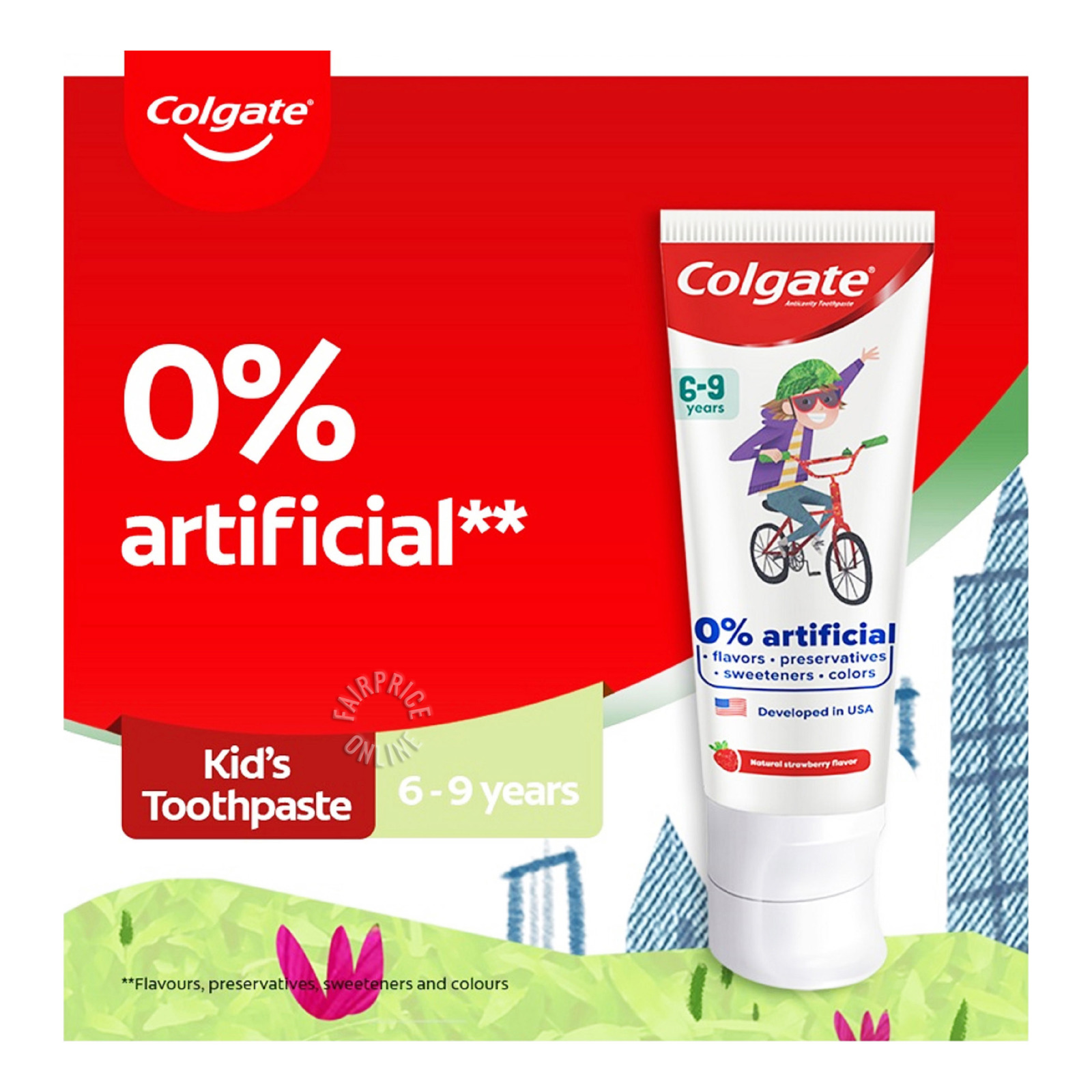 Colgate Kids Toothpaste - Natural Strawberry Mint (6 - 9 Years)
