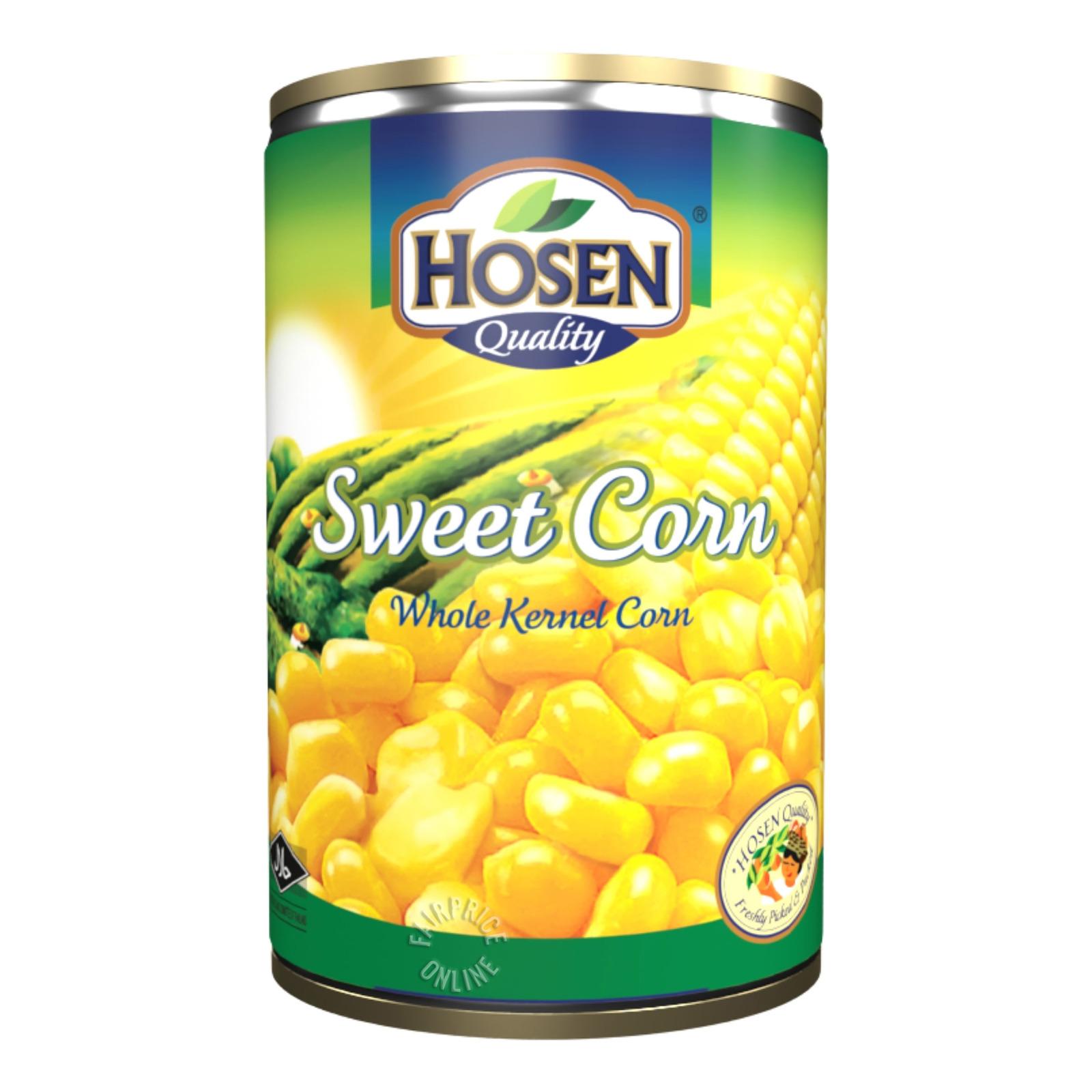 HOSEN Sweet Corn - Whole Kernel Corn 400g