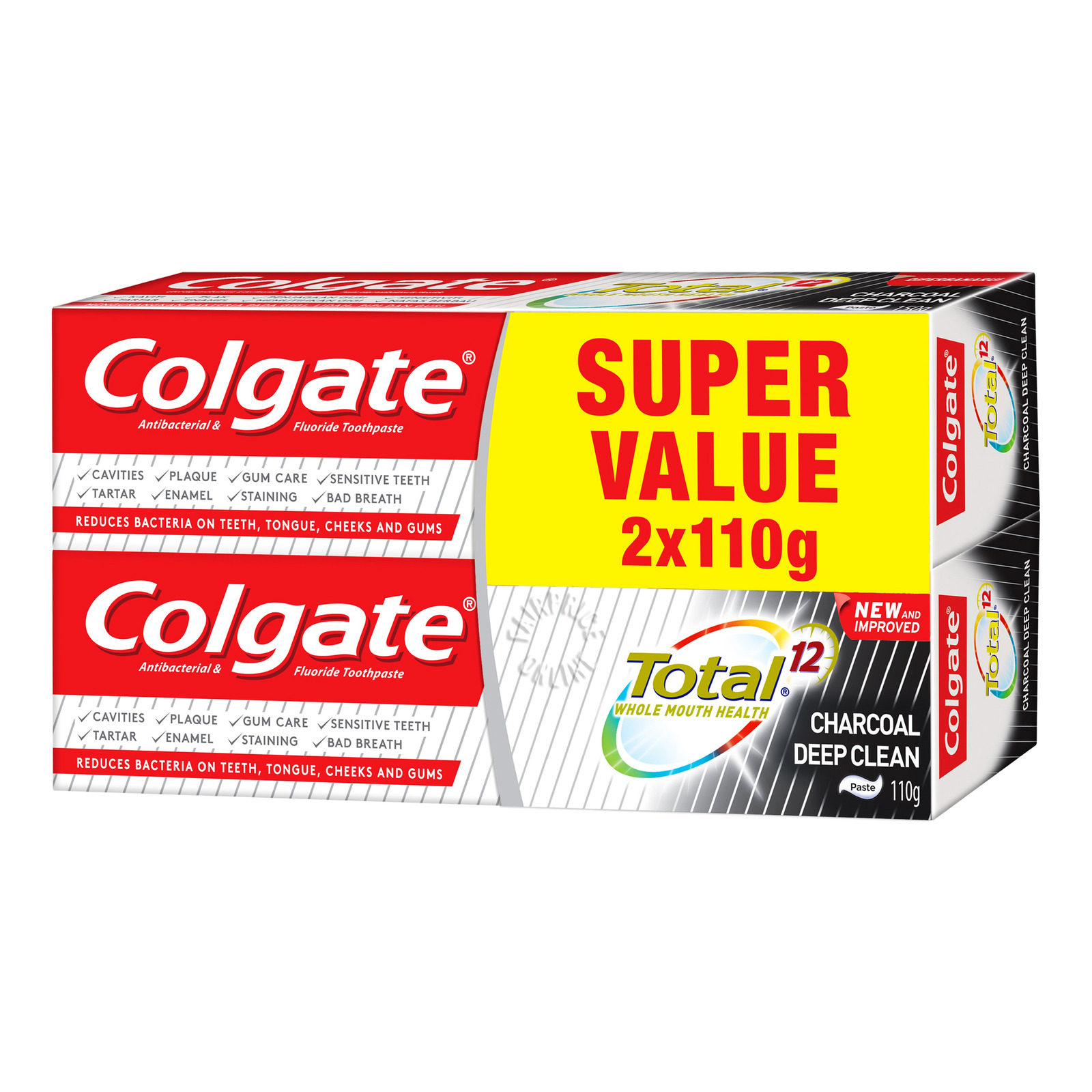COLGATE total charcoal deep clean toothpaste twin pack 2x150g