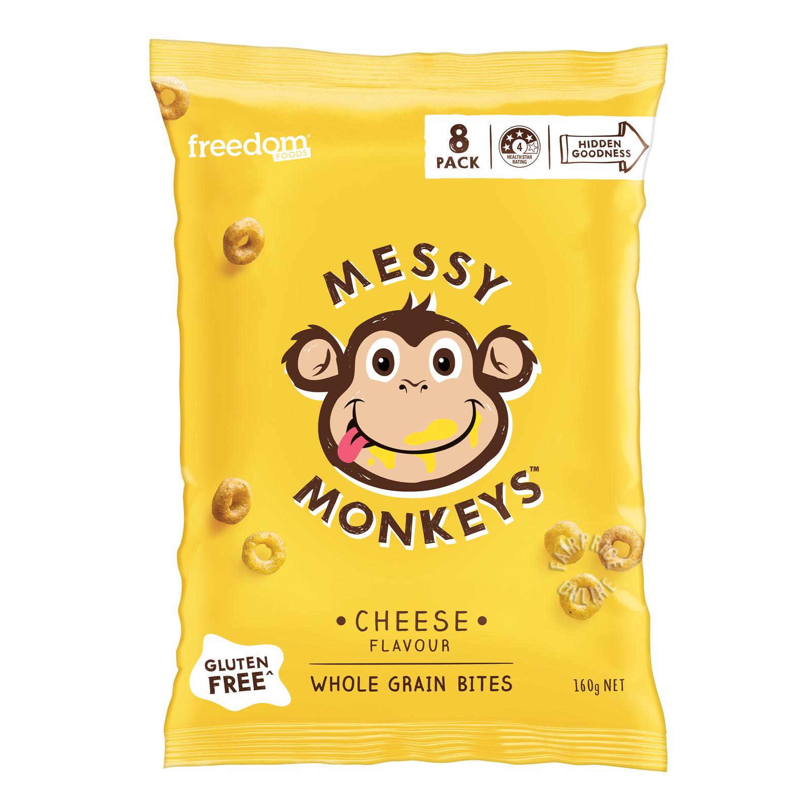 Freedom Foods Messy Monkeys Whole Grain Bites - Cheese