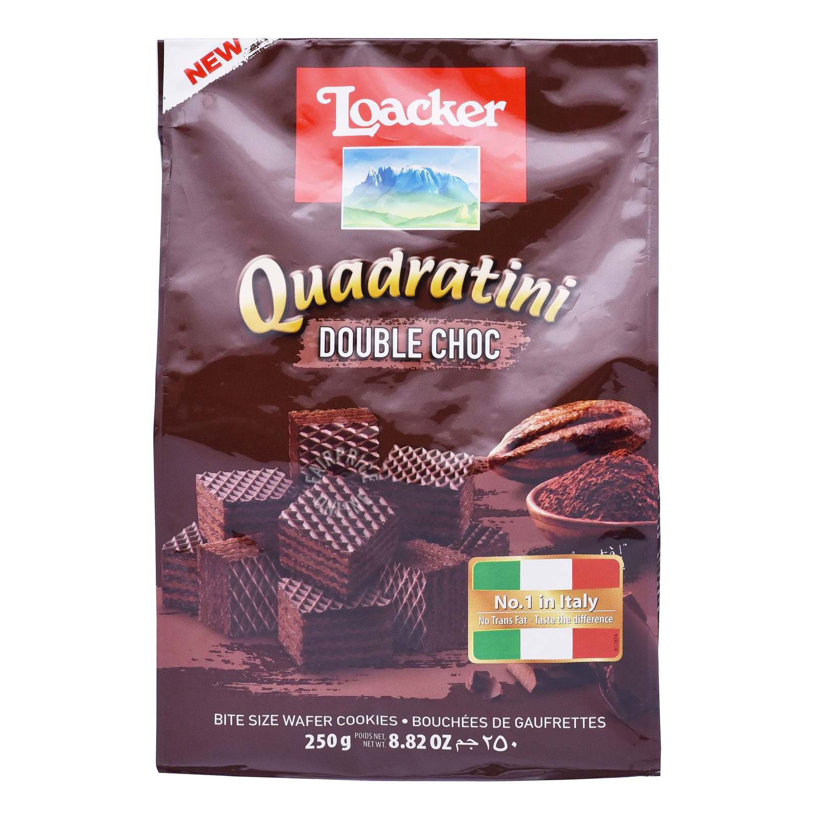 Loacker Quadratini Crispy Wafers - Double Choc