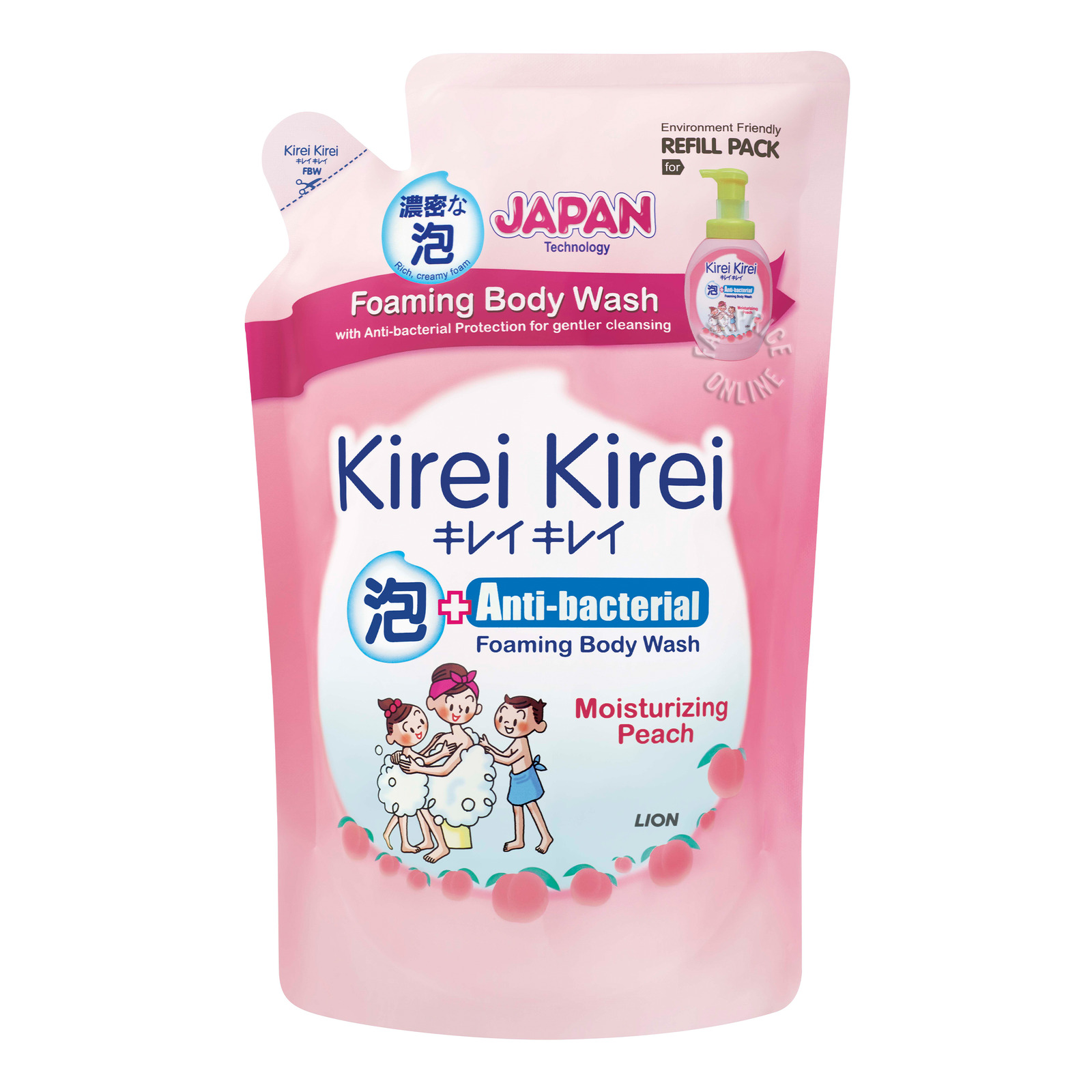 Kirei Kirei Anti-bacterial Body Wash Refill - MoisturisingPeach