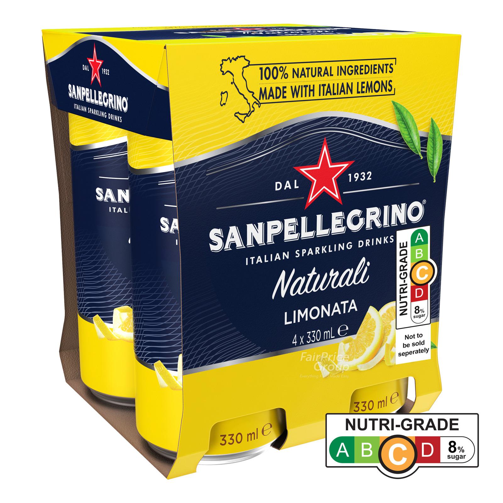 San Pellegirno Sparkling Can Drink - Limonata