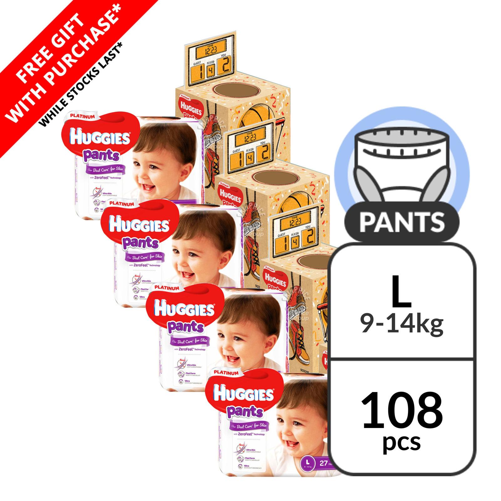 Huggies Platinum Pants - L (9 - 14kg) + Playbox