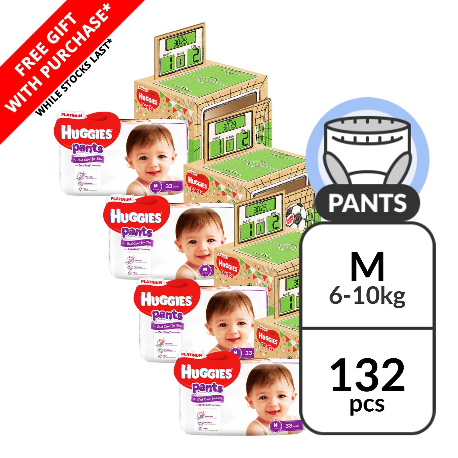 Huggies Platinum Pants - M (6 - 10kg) + Playbox