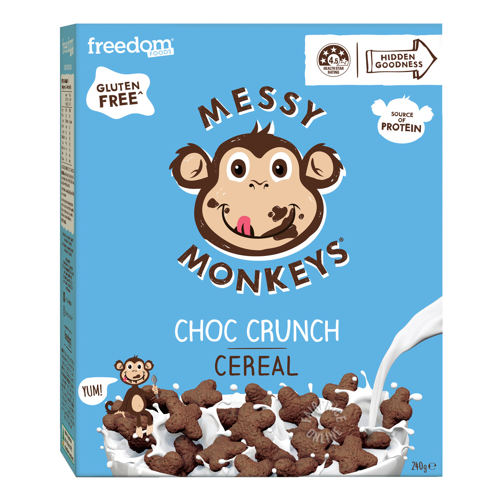 Freedom Foods Messy Monkeys Cereal - Choc Crunch