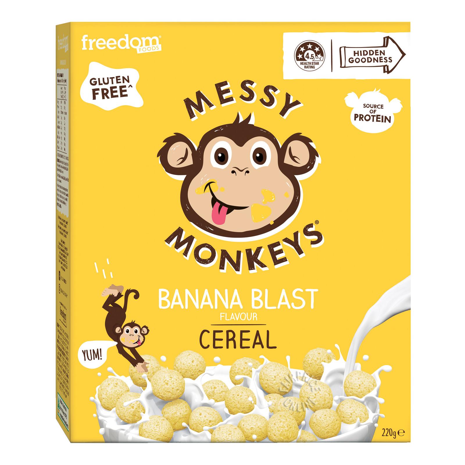 Freedom Foods Messy Monkeys Cereal - Banana Blast