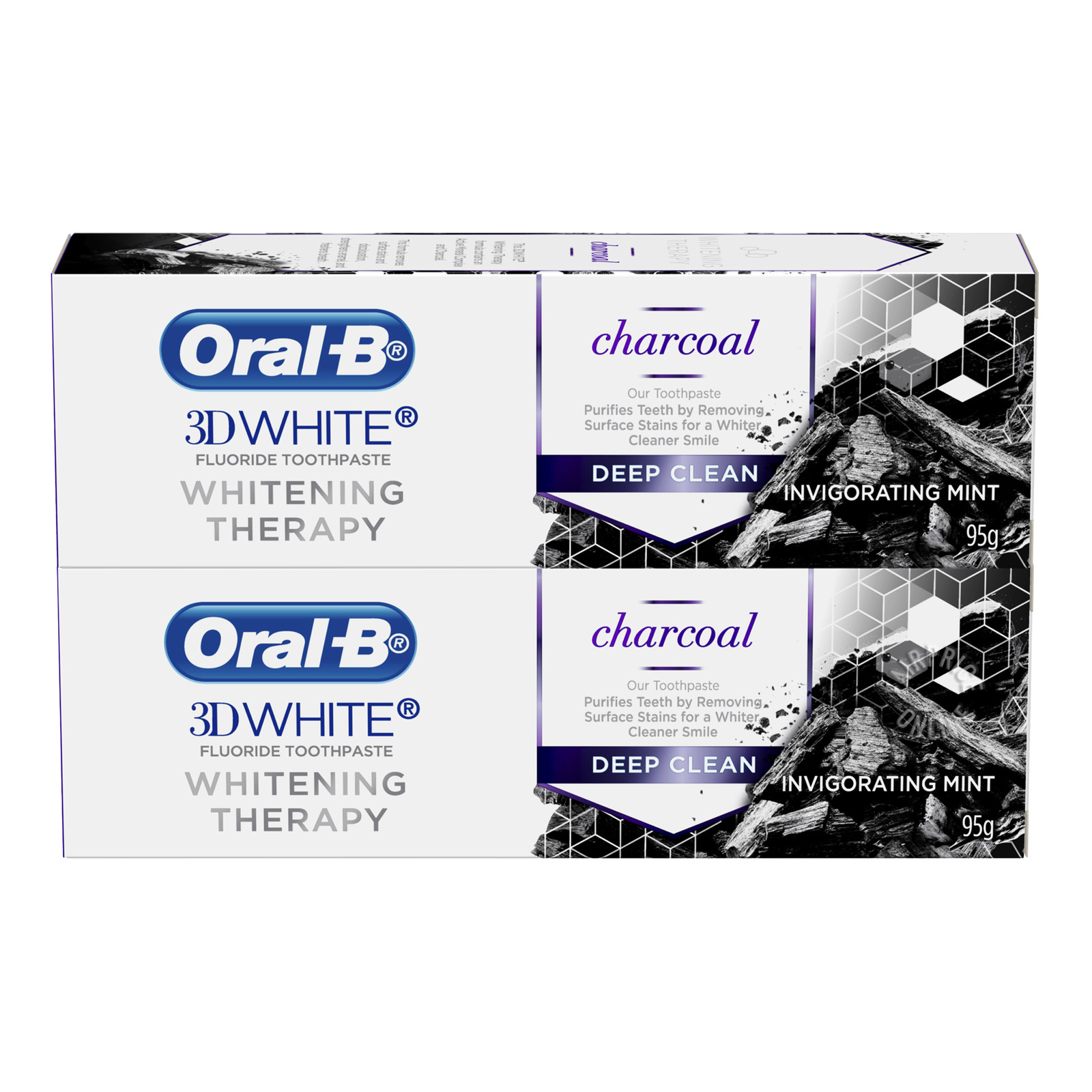 Oral B 3D White Toothpaste - Charcoal (Deep Clean)