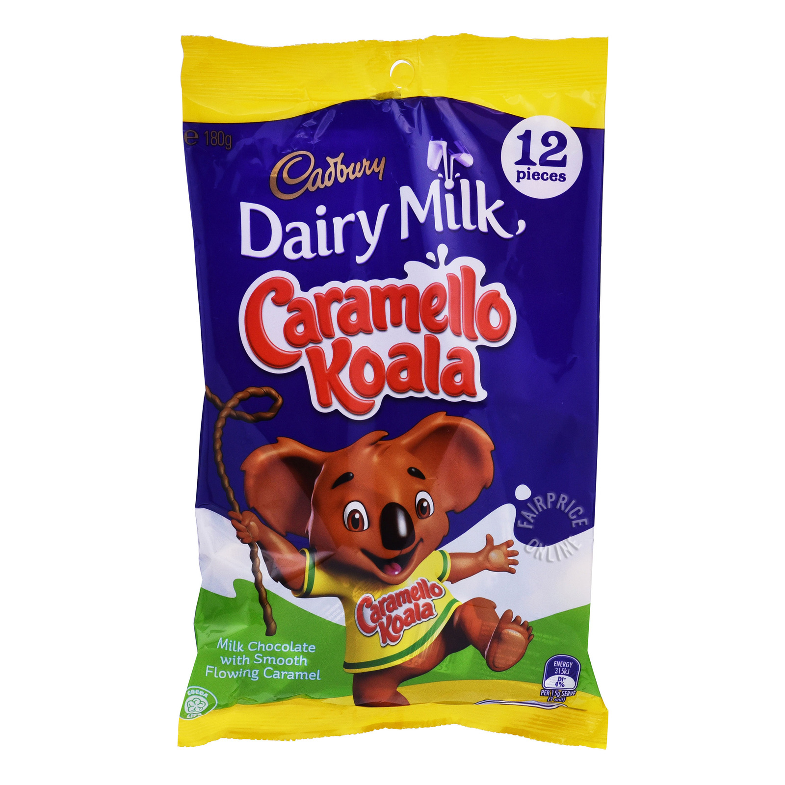 Cadburry Dairy Milk Caramello Koala Sharepack - Milk Chocolate with Smooth Flowing Caramel