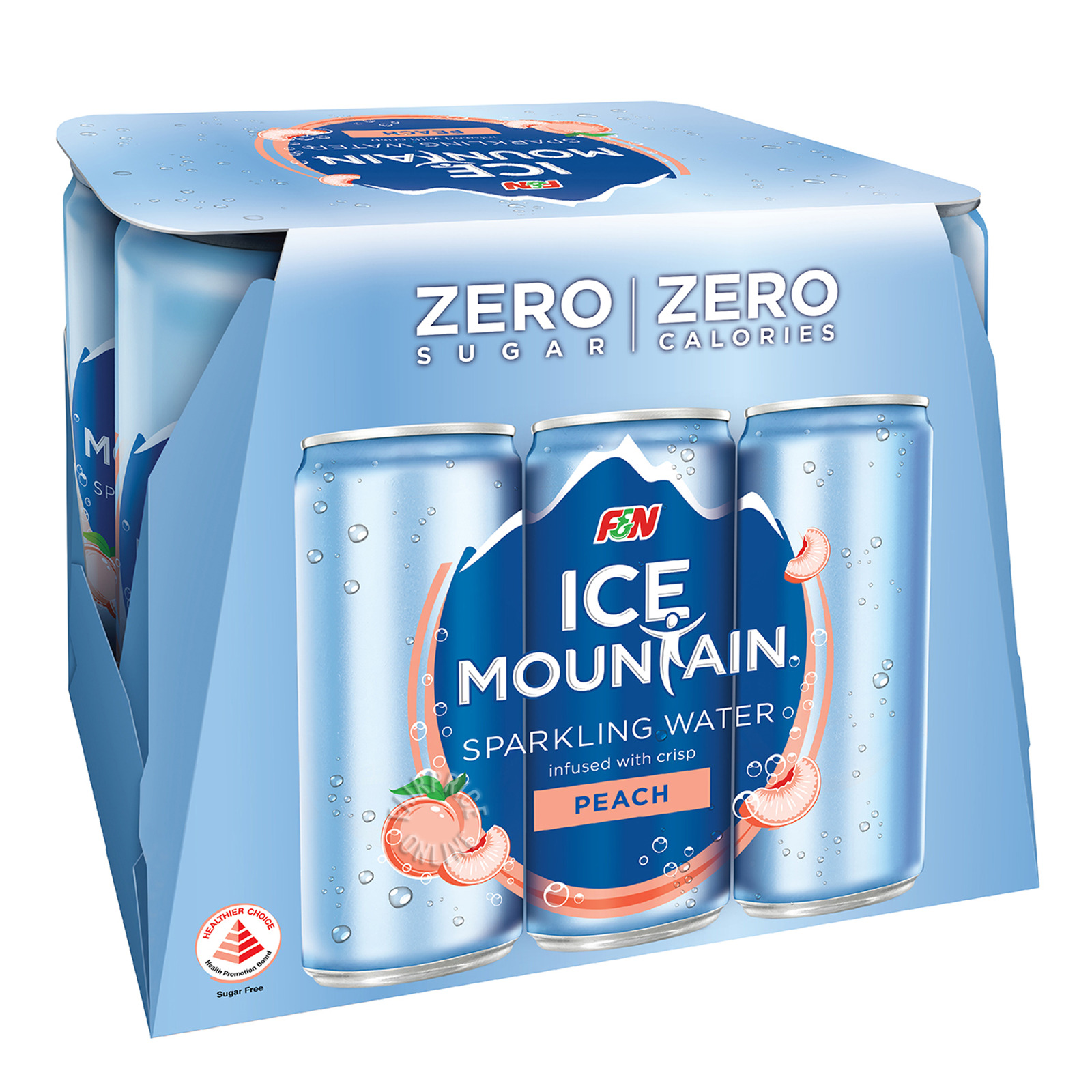 F&N Ice Mountain Sparkling Can Water - Peach