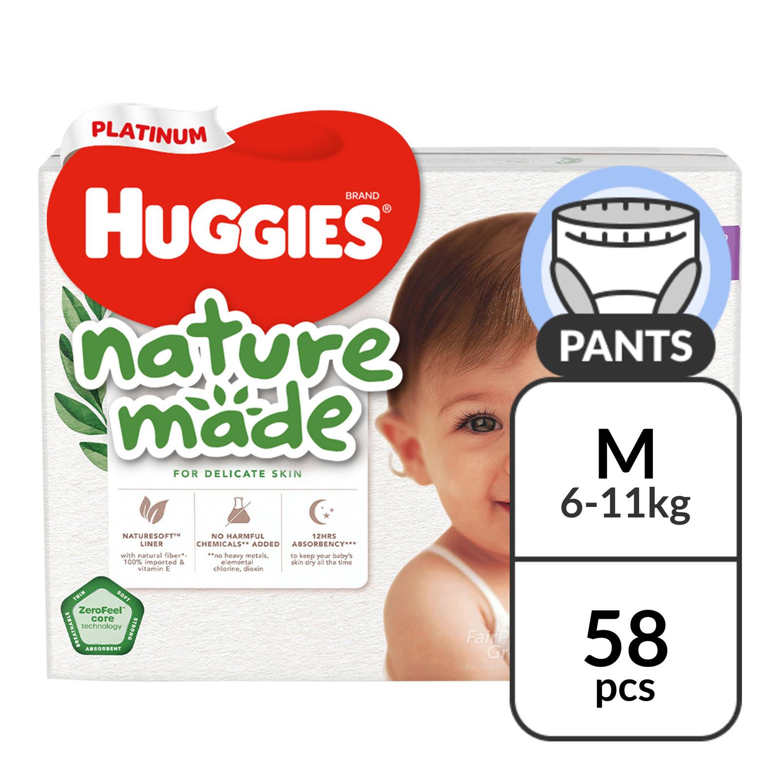 Huggies Platinum Nature Made Pants - M (6 - 11kg)
