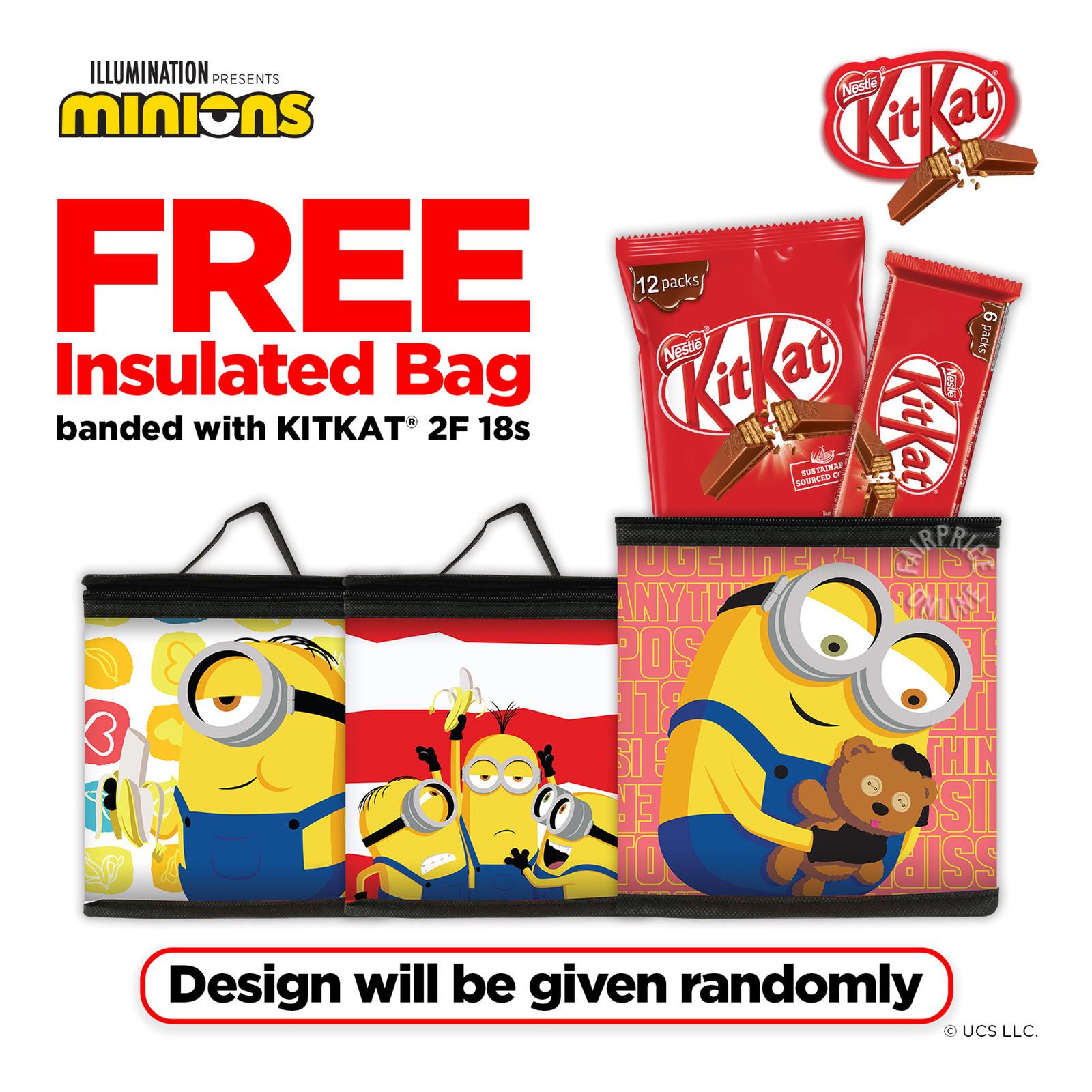 Nestle Kit Kat 2 Finger Chocolate Bar - Milk + Free Bag