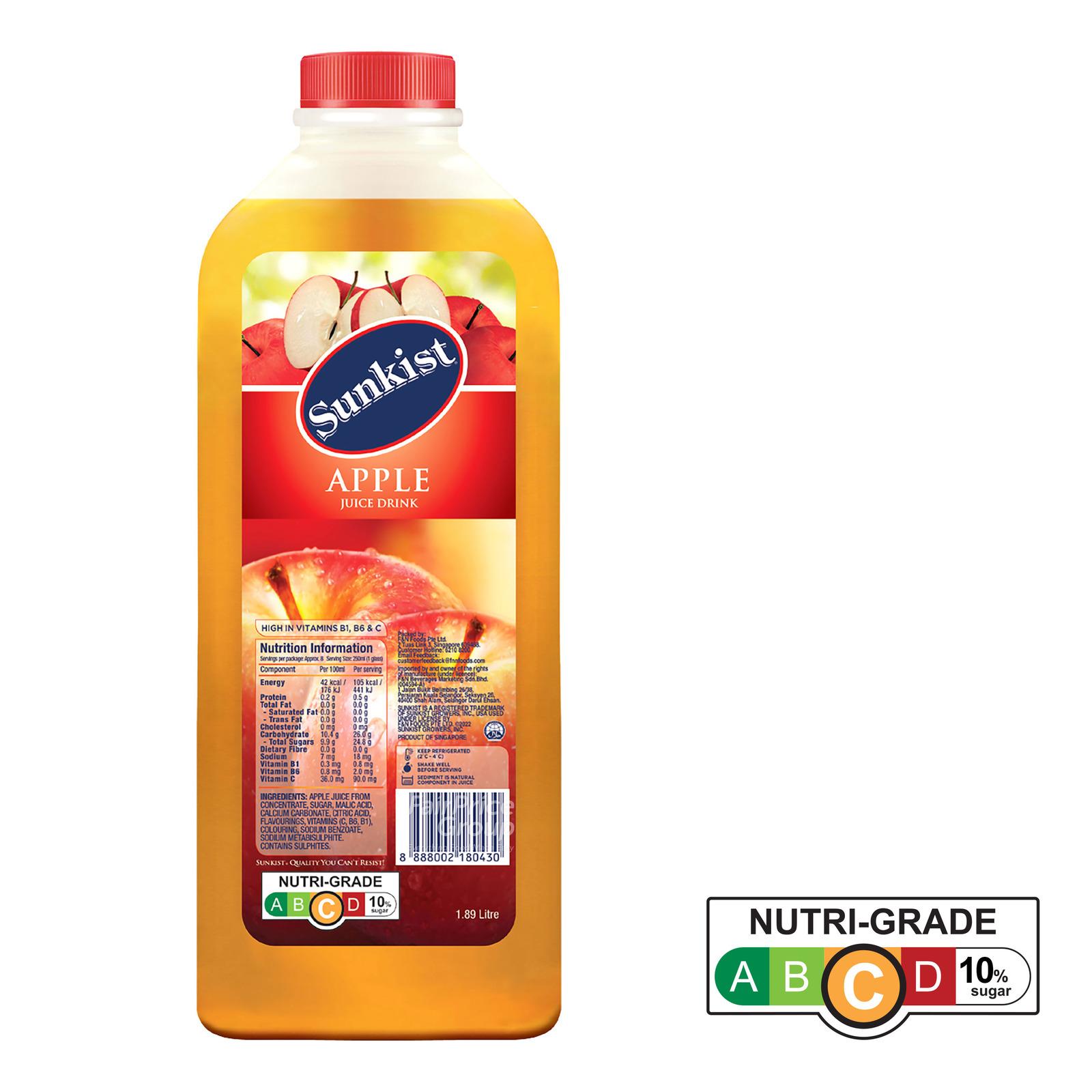 Sunkist Fruit Bottle Juice - Apple