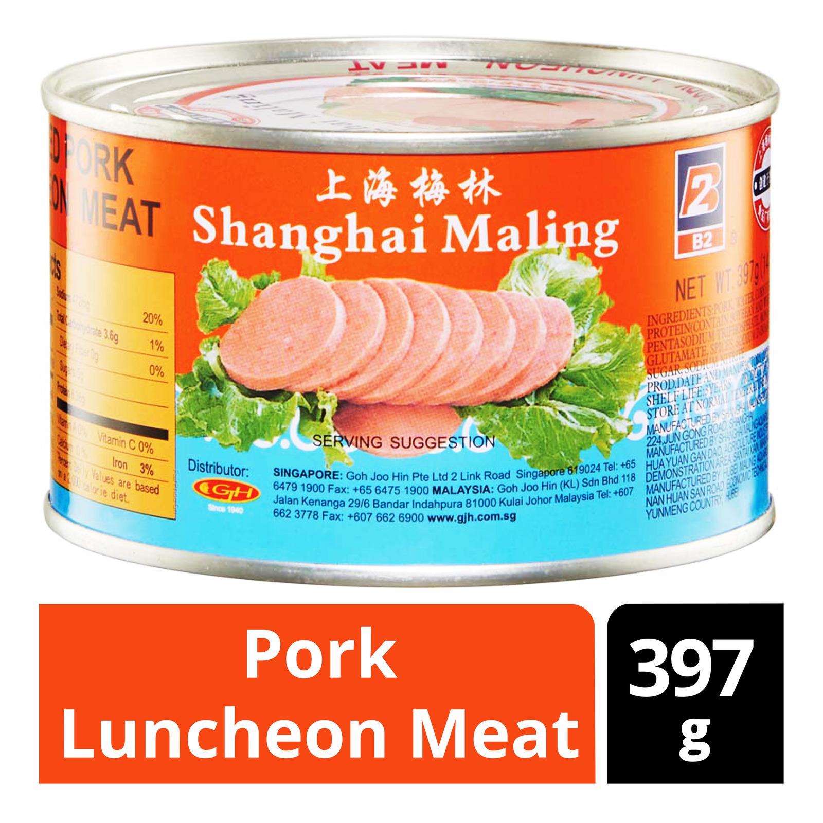 MALING Shanghai B2 Pork Luncheon Meat 397g