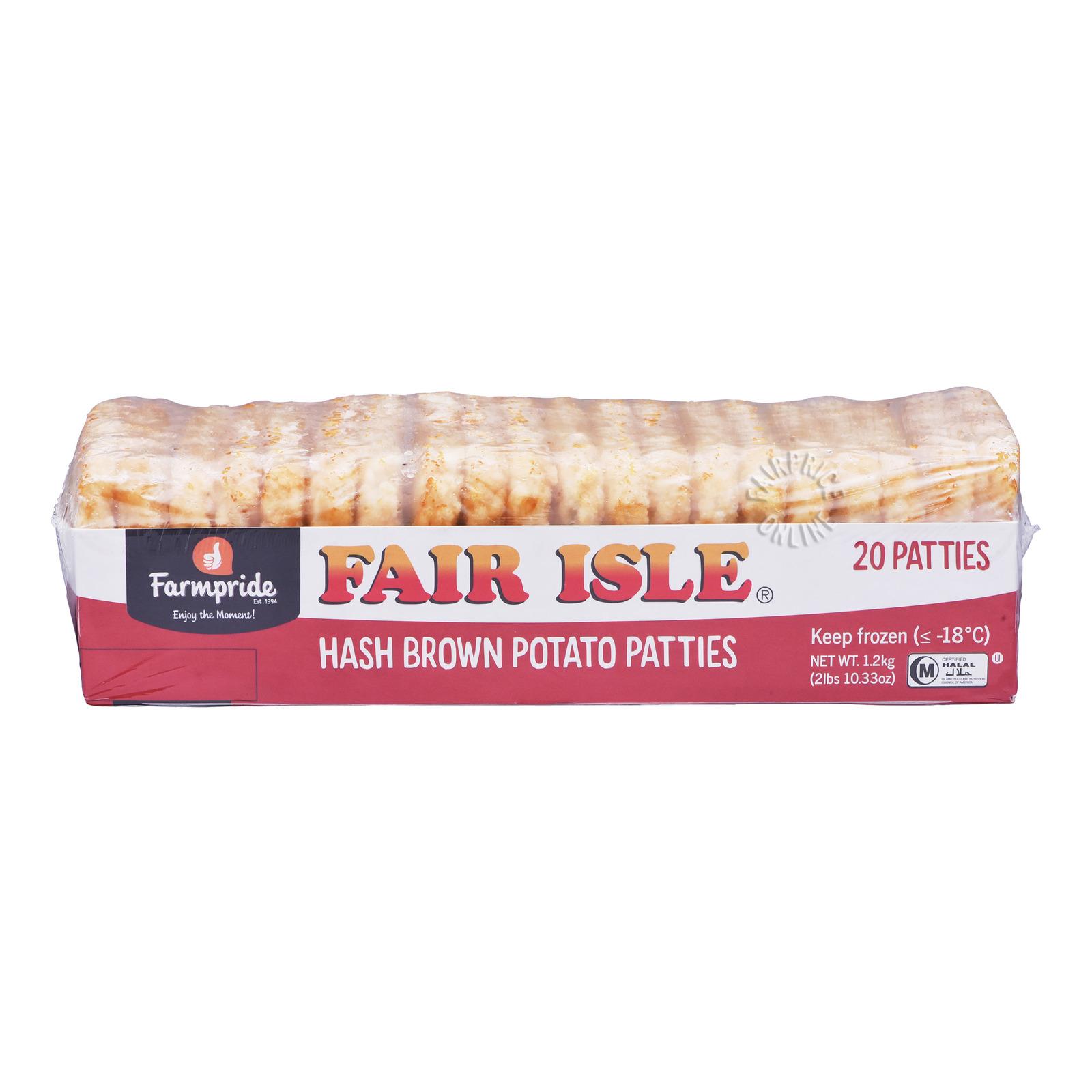 Fair Isle Frozen Hash Browns Patties