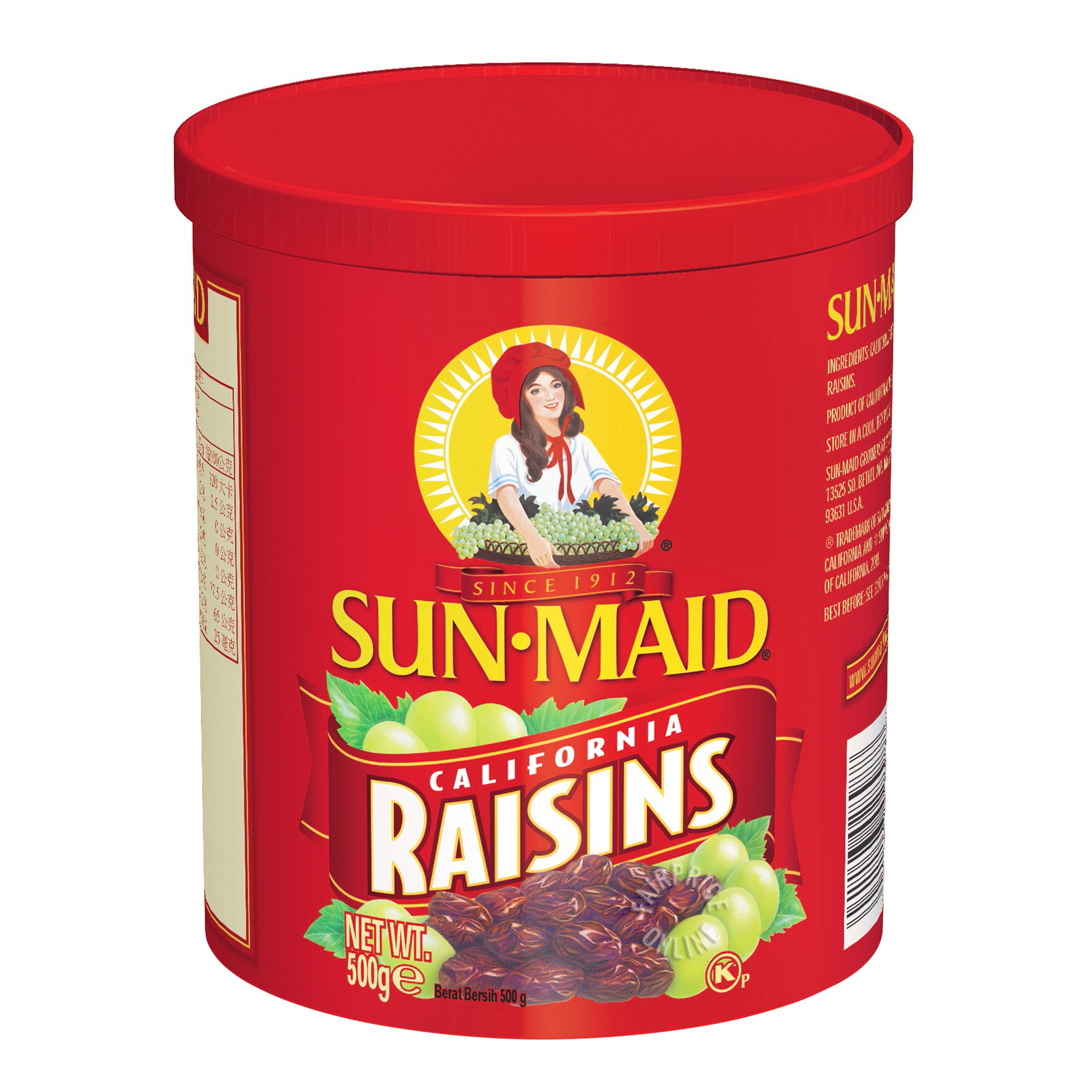 Sun-Maid Natural California Raisins - Tub