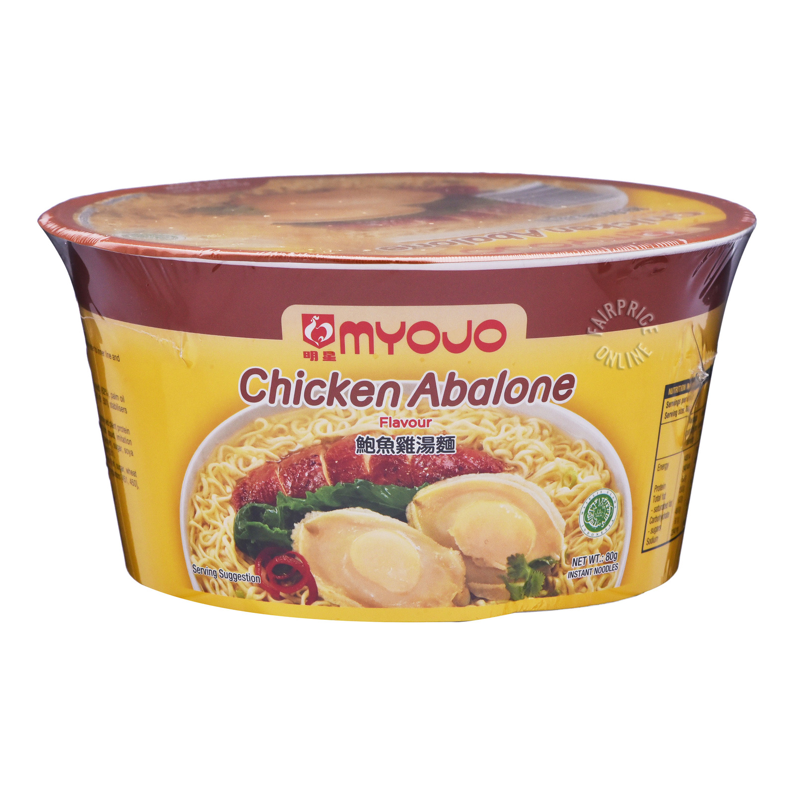 Myojo Instant Bowl Noodles - Chicken Abalone