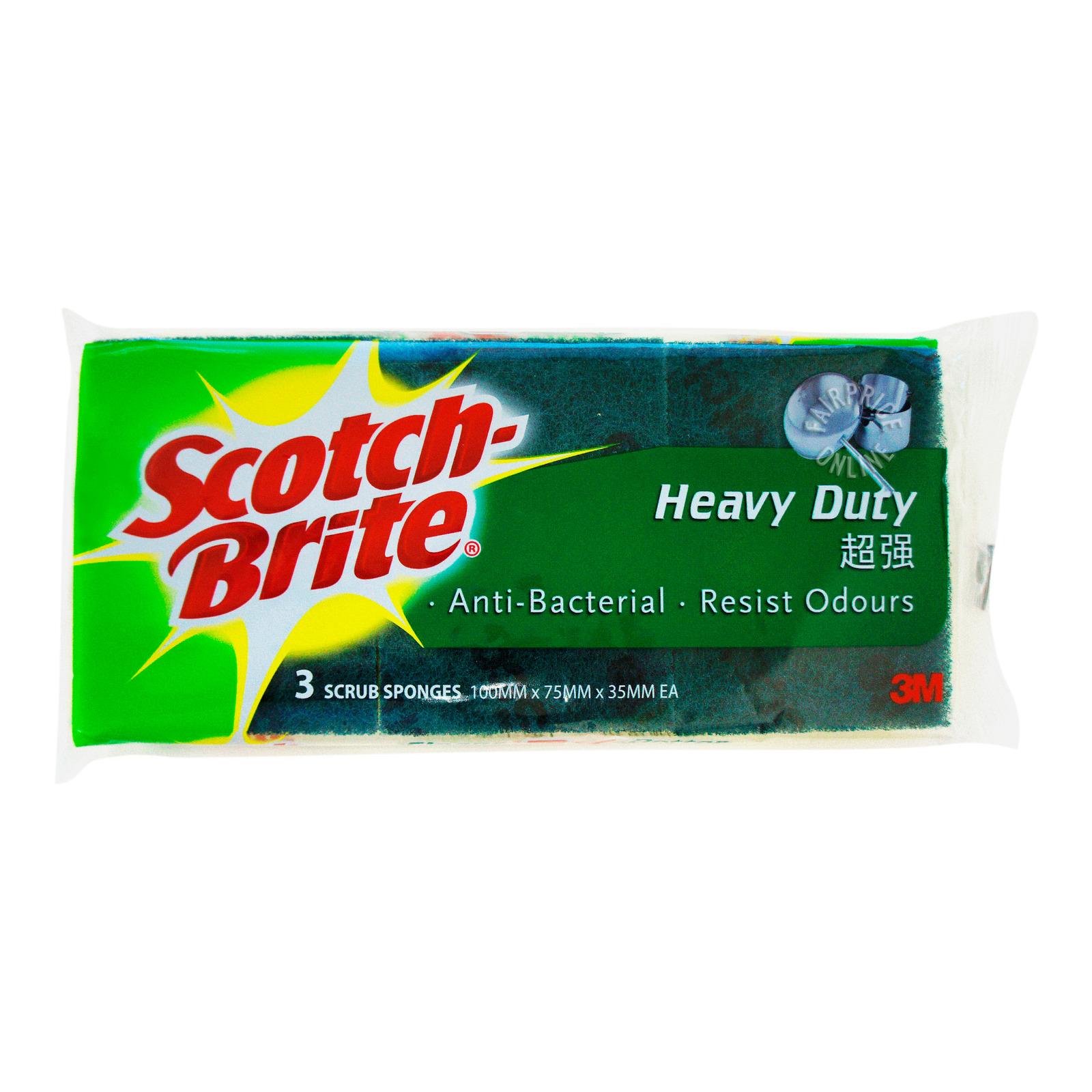 3M Scotch-Brite Scrub Sponges - Heavy Duty (Urethane)