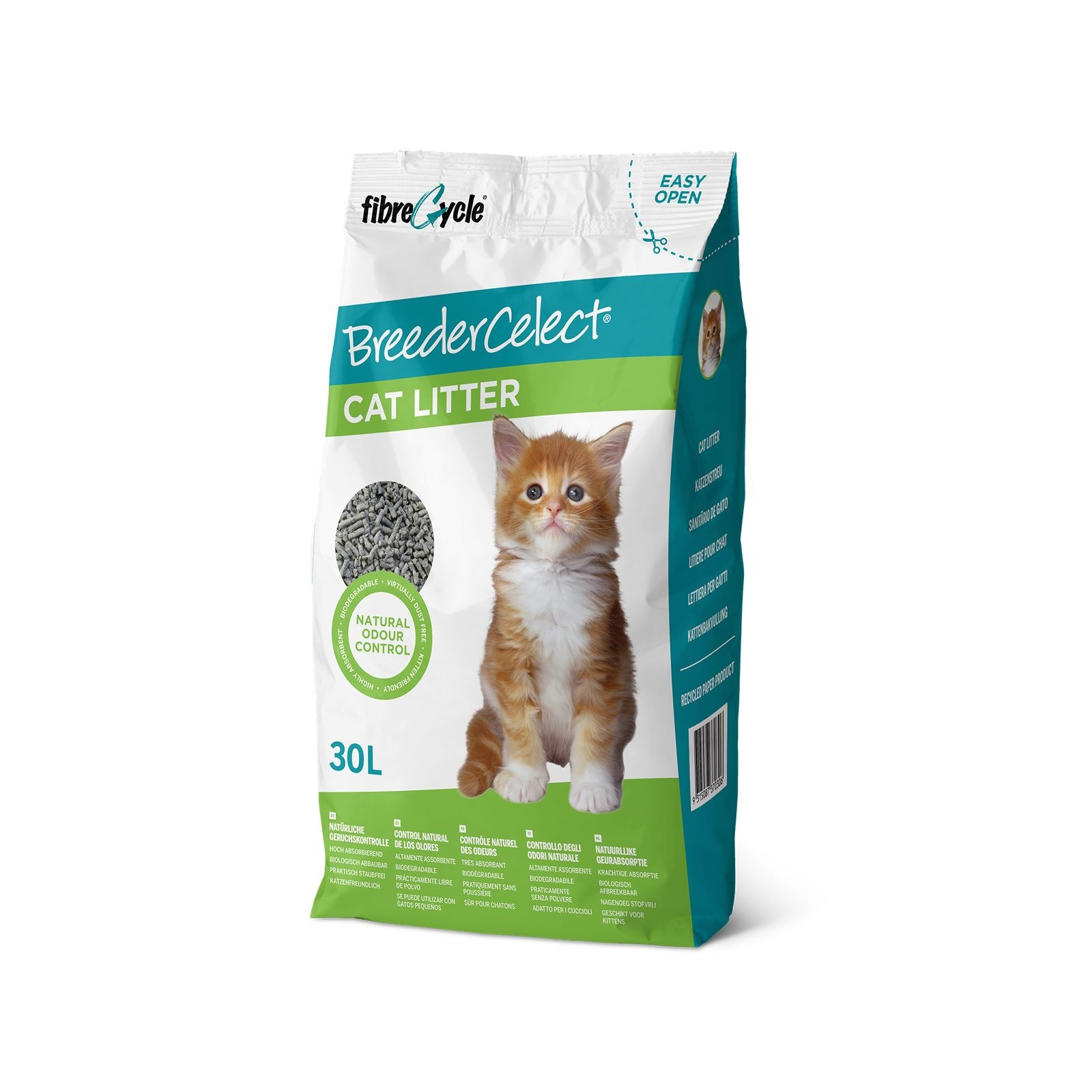 Breeder Celect Cat Litter - 30 Litres