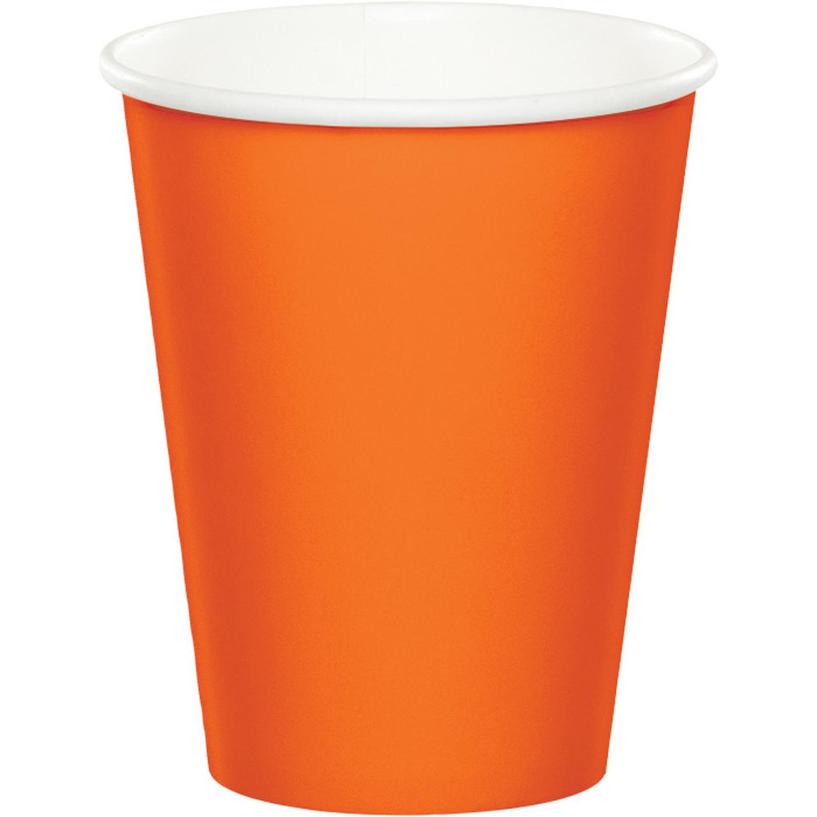 Creative Converting Orange 9 Oz Paper Cup