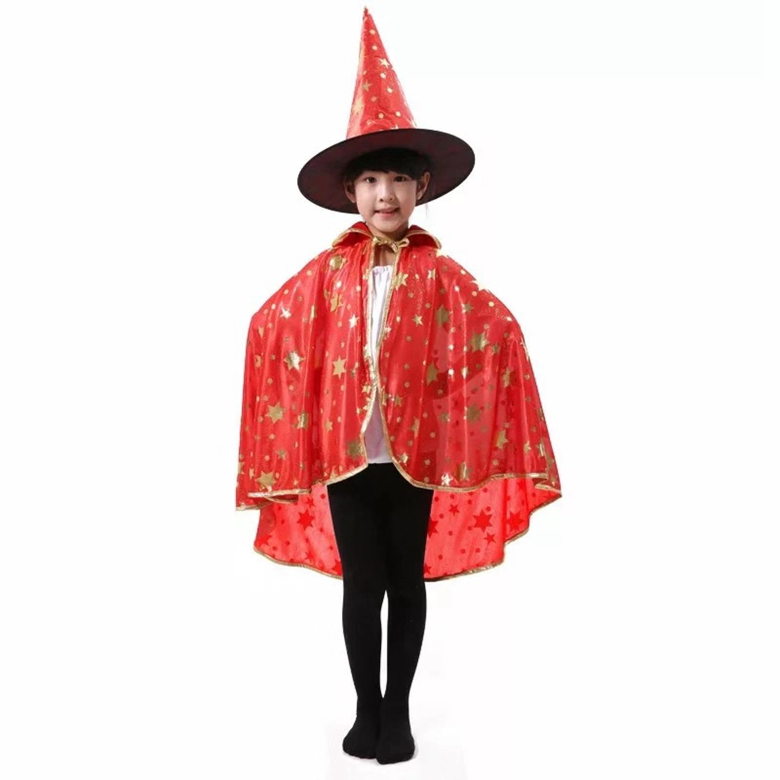 Halloween Witch Hat & Cape Set