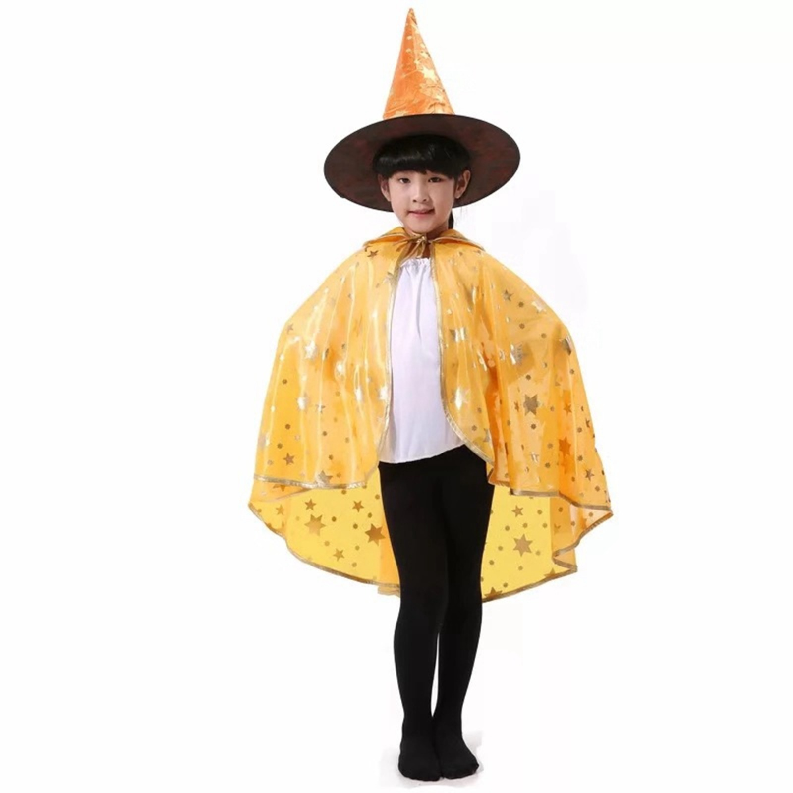 Halloween Witch Hat & Cape Set