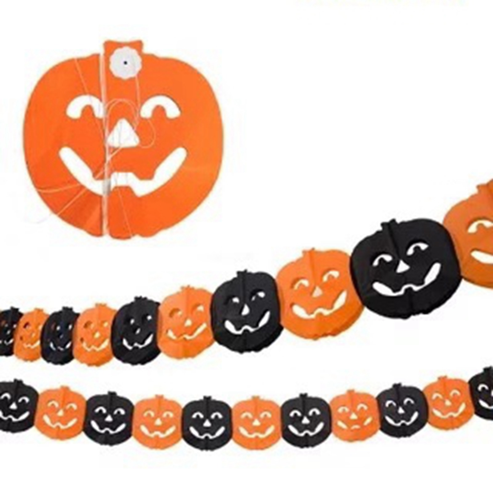 Pumpkin Paper Garland Decoration
